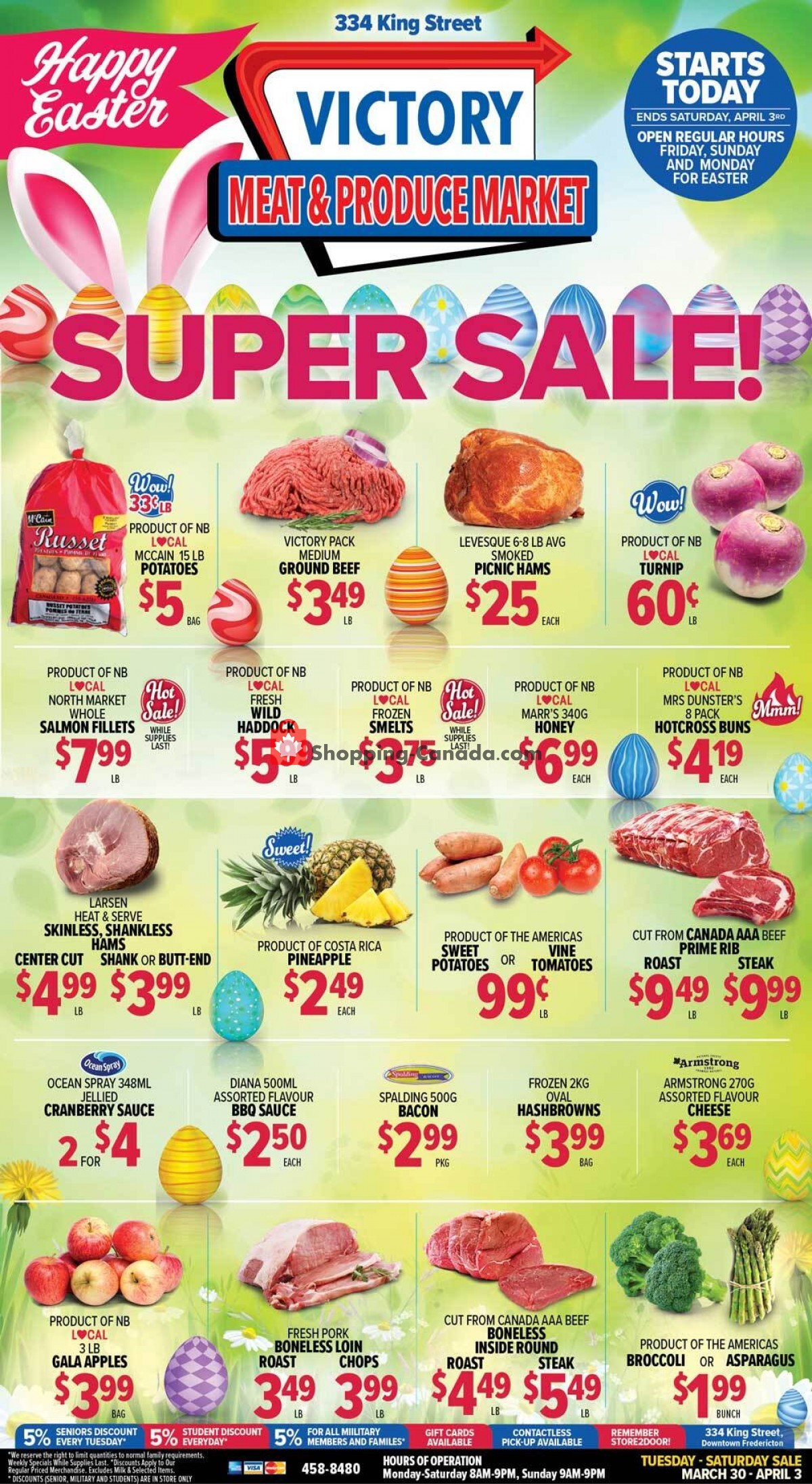 Flyer Victory Meat Market  Canada - from Tuesday March 30, 2021 to Saturday April 3, 2021