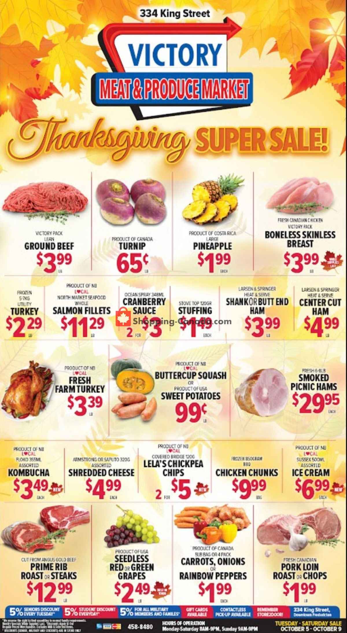 Flyer Victory Meat Market  Canada - from Tuesday October 5, 2021 to Saturday October 9, 2021