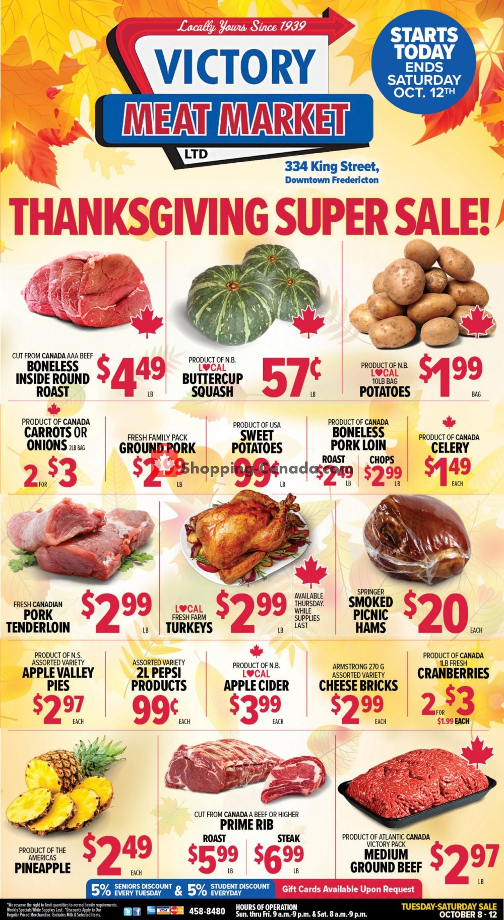 Flyer Victory Meat Market  Canada - from Tuesday October 8, 2019 to Saturday October 12, 2019