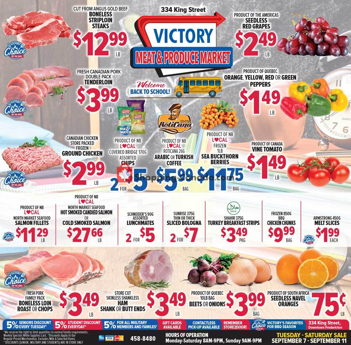 Flyer Victory Meat Market  Canada - from Tuesday September 7, 2021 to Saturday September 11, 2021