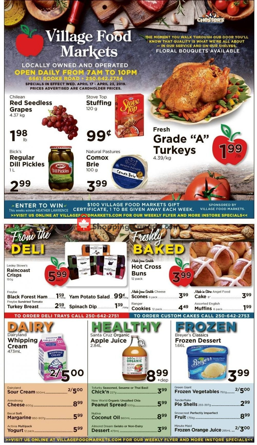 Flyer Village Food Market Canada - from Wednesday April 17, 2019 to Tuesday April 23, 2019