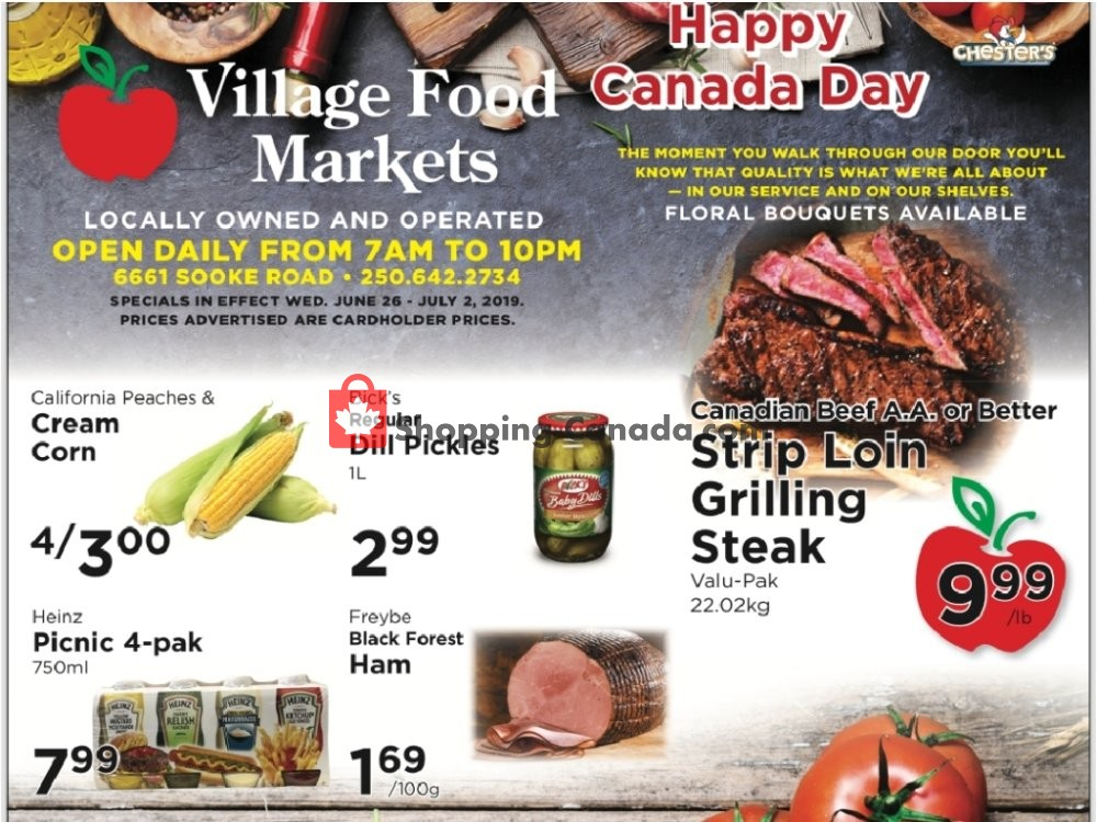 Flyer Village Food Market Canada - from Wednesday June 26, 2019 to Tuesday July 2, 2019