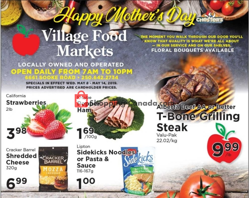 Flyer Village Food Market Canada - from Wednesday May 8, 2019 to Tuesday May 14, 2019
