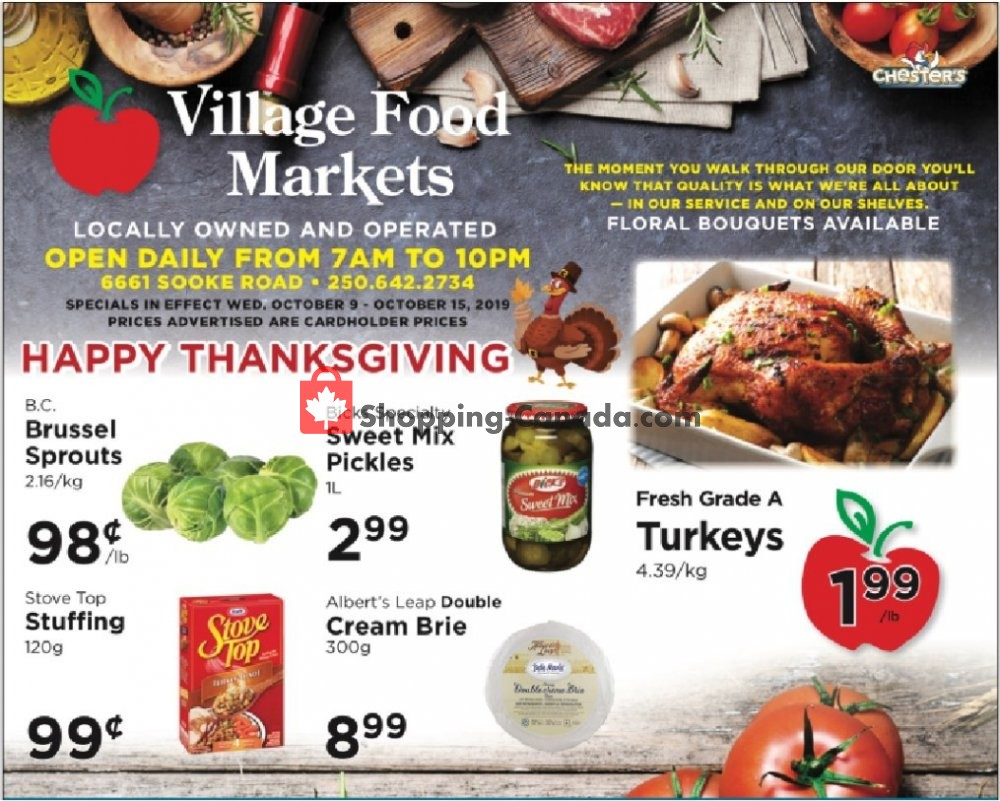 Flyer Village Food Market Canada - from Wednesday October 9, 2019 to Tuesday October 15, 2019