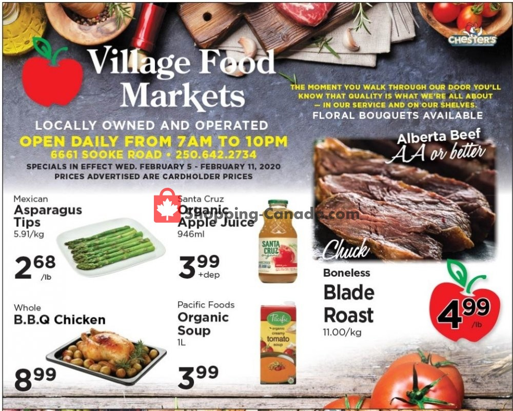Flyer Village Food Market Canada - from Wednesday February 5, 2020 to Tuesday February 11, 2020