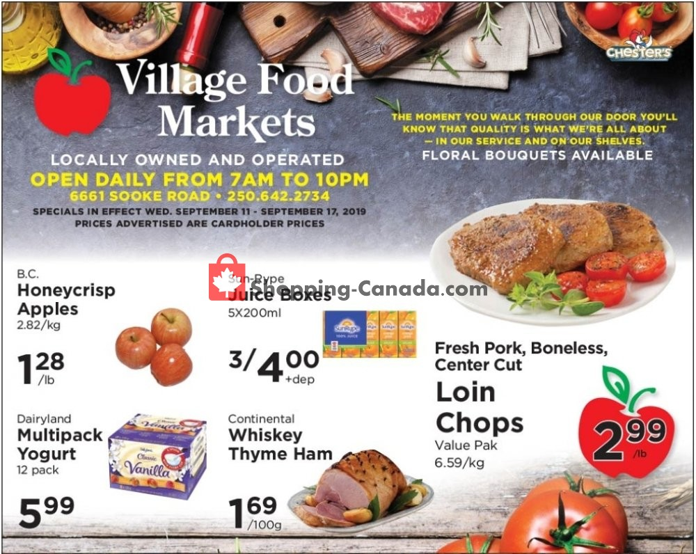 Flyer Village Food Market Canada - from Wednesday September 11, 2019 to Tuesday September 17, 2019