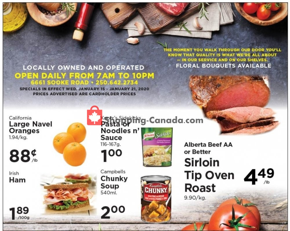 Flyer Village Food Market Canada - from Wednesday January 15, 2020 to Tuesday January 21, 2020
