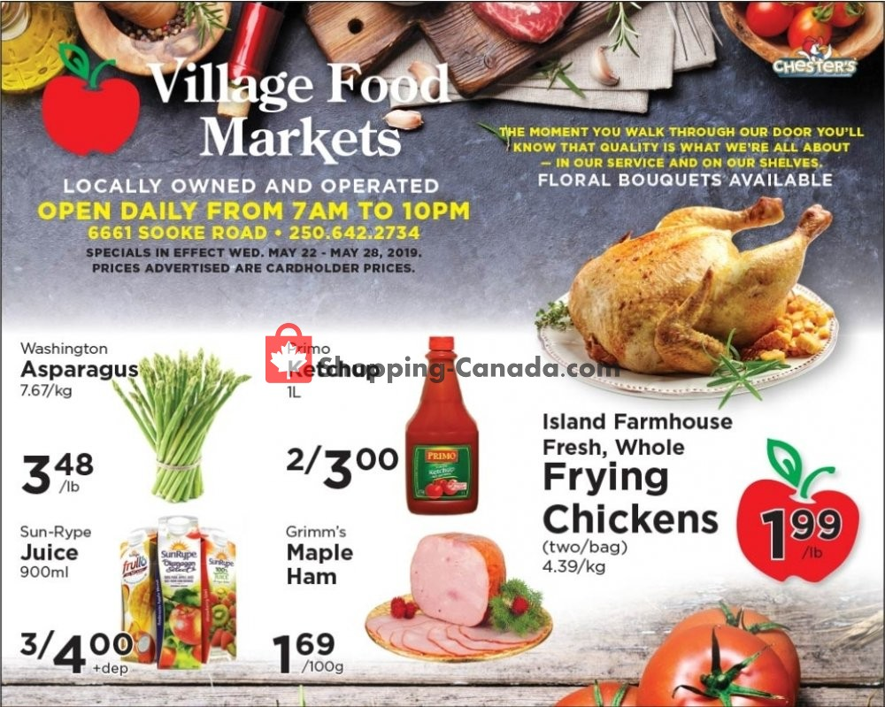 Flyer Village Food Market Canada - from Wednesday May 22, 2019 to Tuesday May 28, 2019