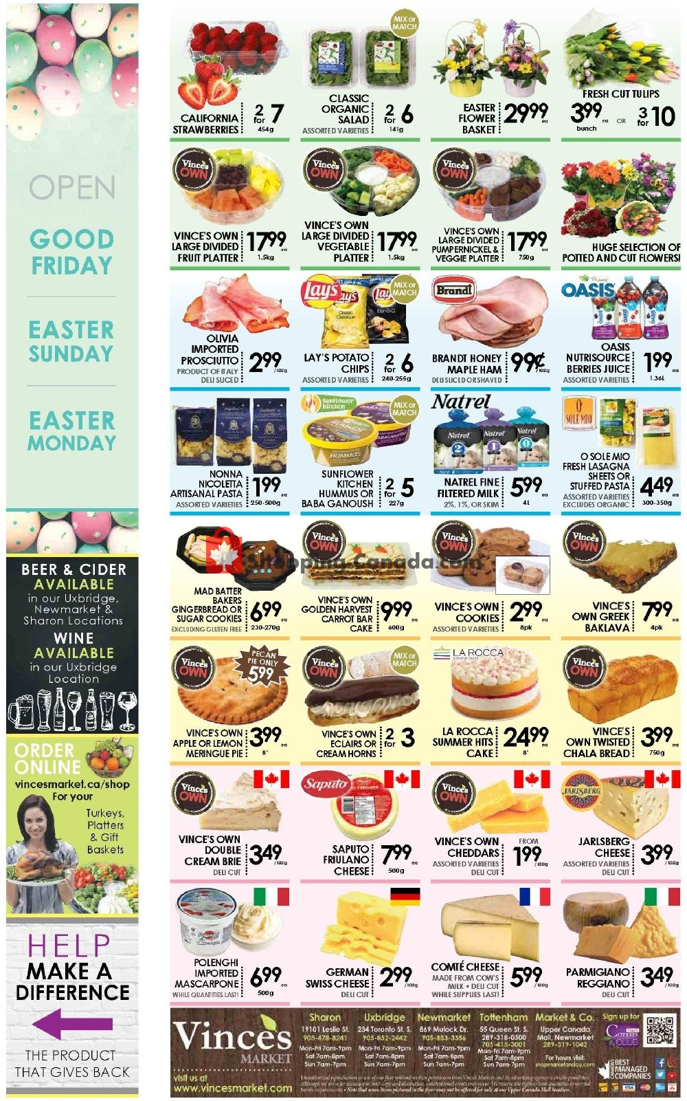 Flyer Vince's Market Canada - from Friday April 19, 2019 to Thursday April 25, 2019