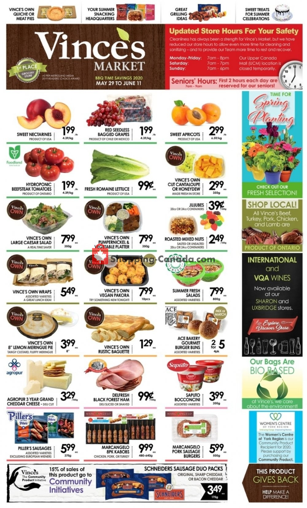 Flyer Vince's Market Canada - from Friday May 29, 2020 to Thursday June 11, 2020