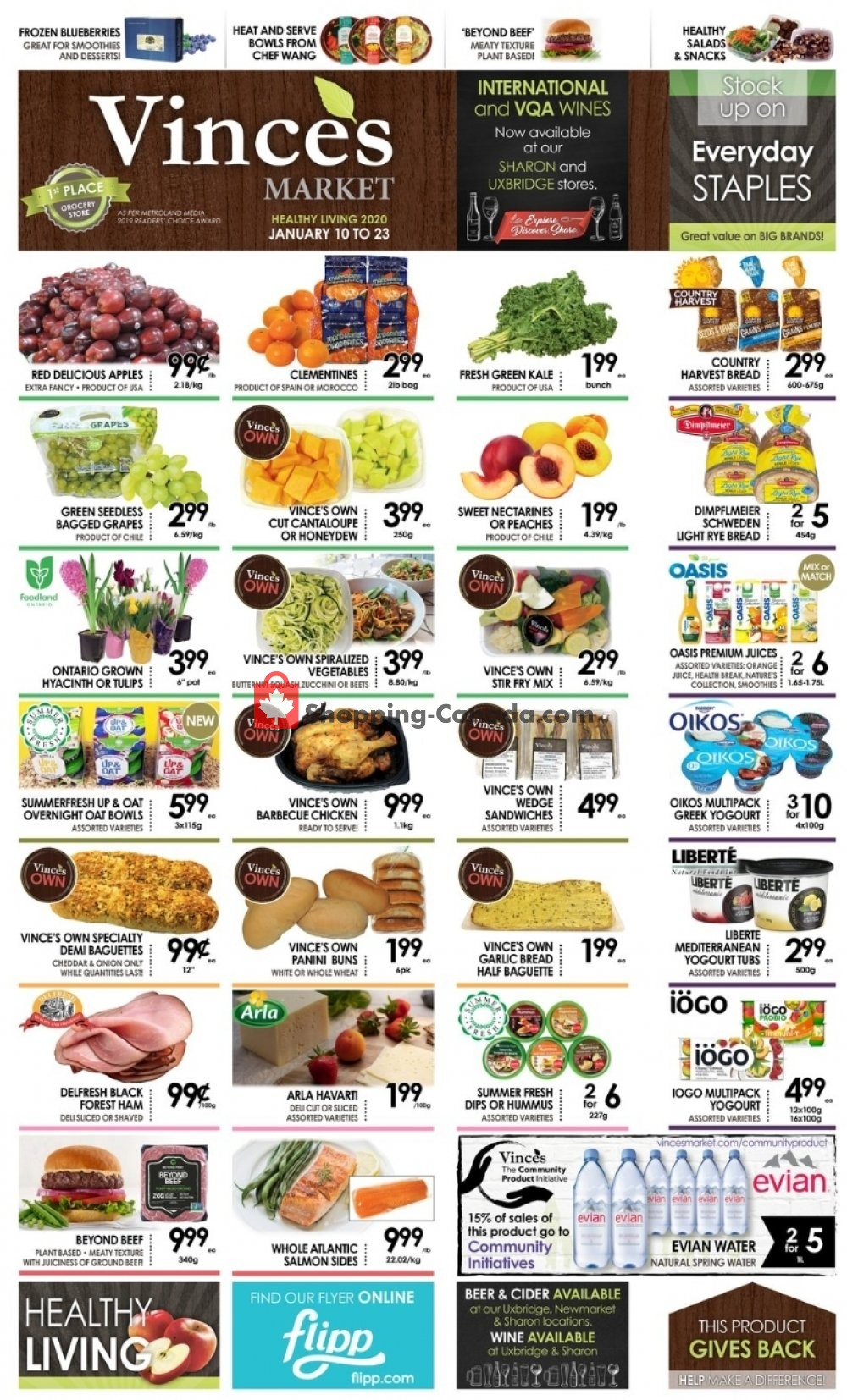 Flyer Vince's Market Canada - from Friday January 10, 2020 to Thursday January 23, 2020
