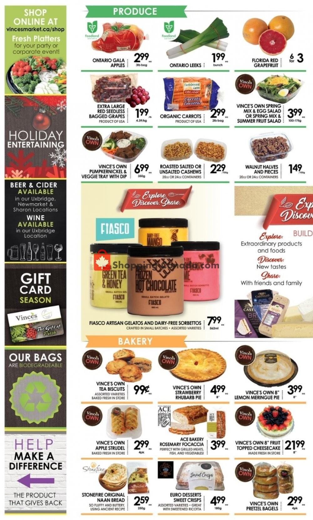 Flyer Vince's Market Canada - from Friday November 8, 2019 to Thursday November 21, 2019