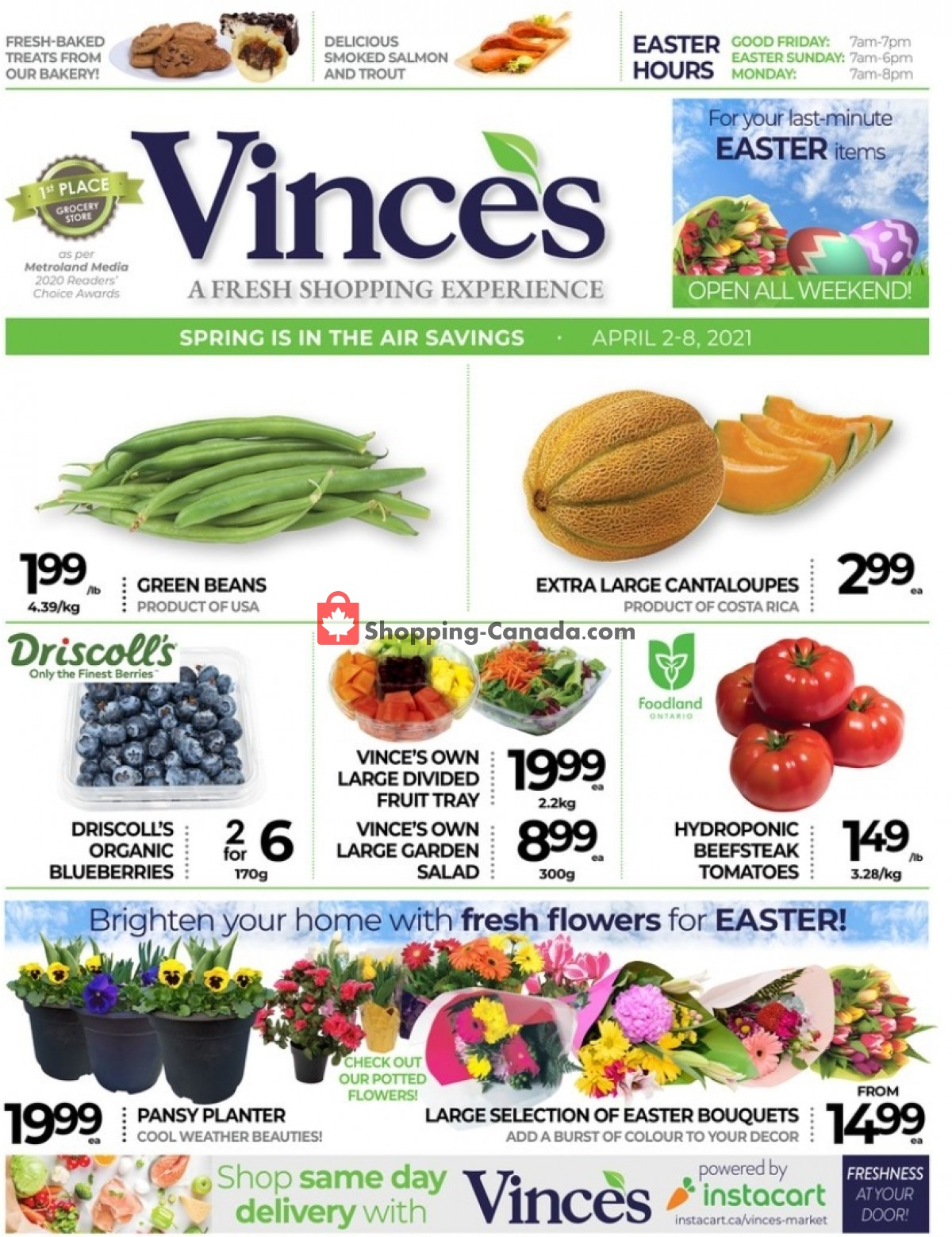 Flyer Vince's Market Canada - from Friday April 2, 2021 to Thursday April 8, 2021