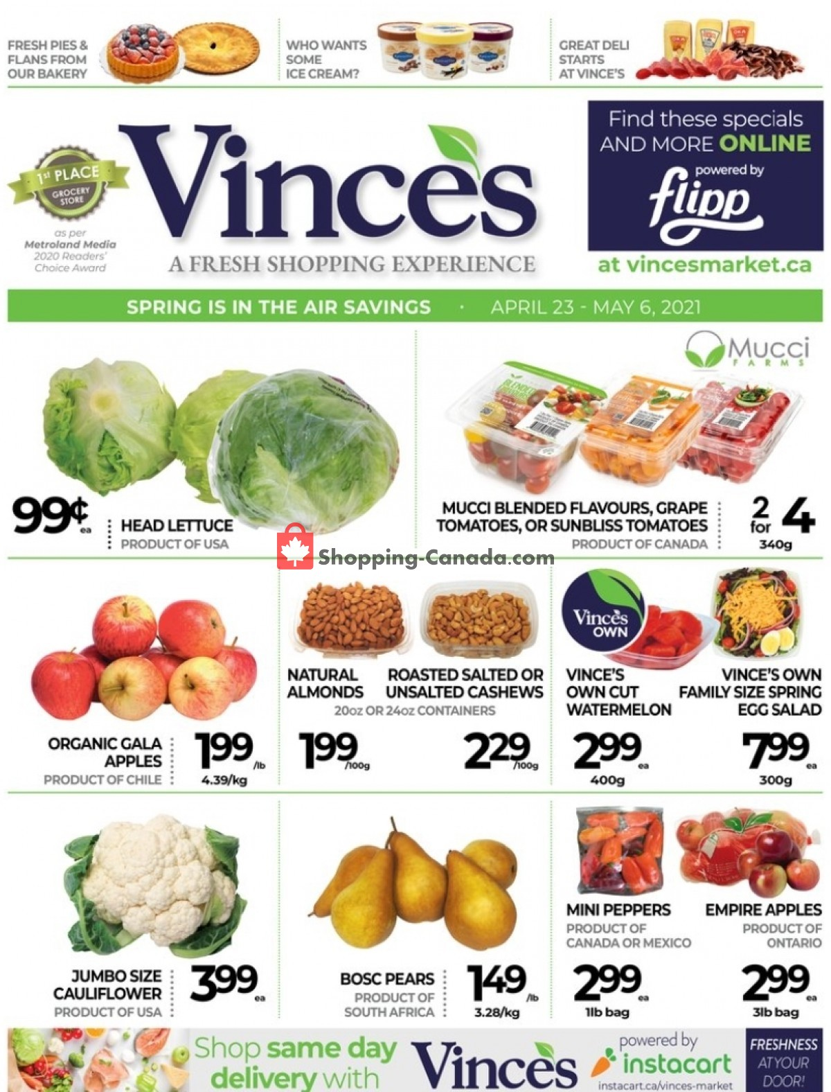 Flyer Vince's Market Canada - from Friday April 23, 2021 to Thursday May 6, 2021