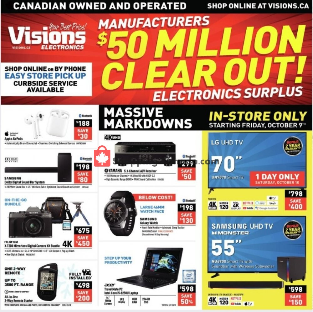 Flyer Visions Electronics Canada - from Friday October 9, 2020 to Thursday October 15, 2020