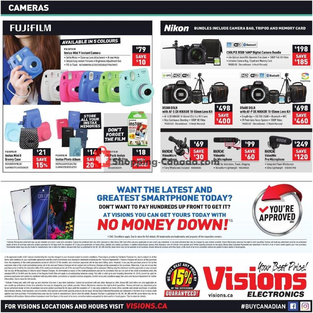 Flyer Visions Electronics Canada - from Friday November 8, 2019 to Thursday November 14, 2019