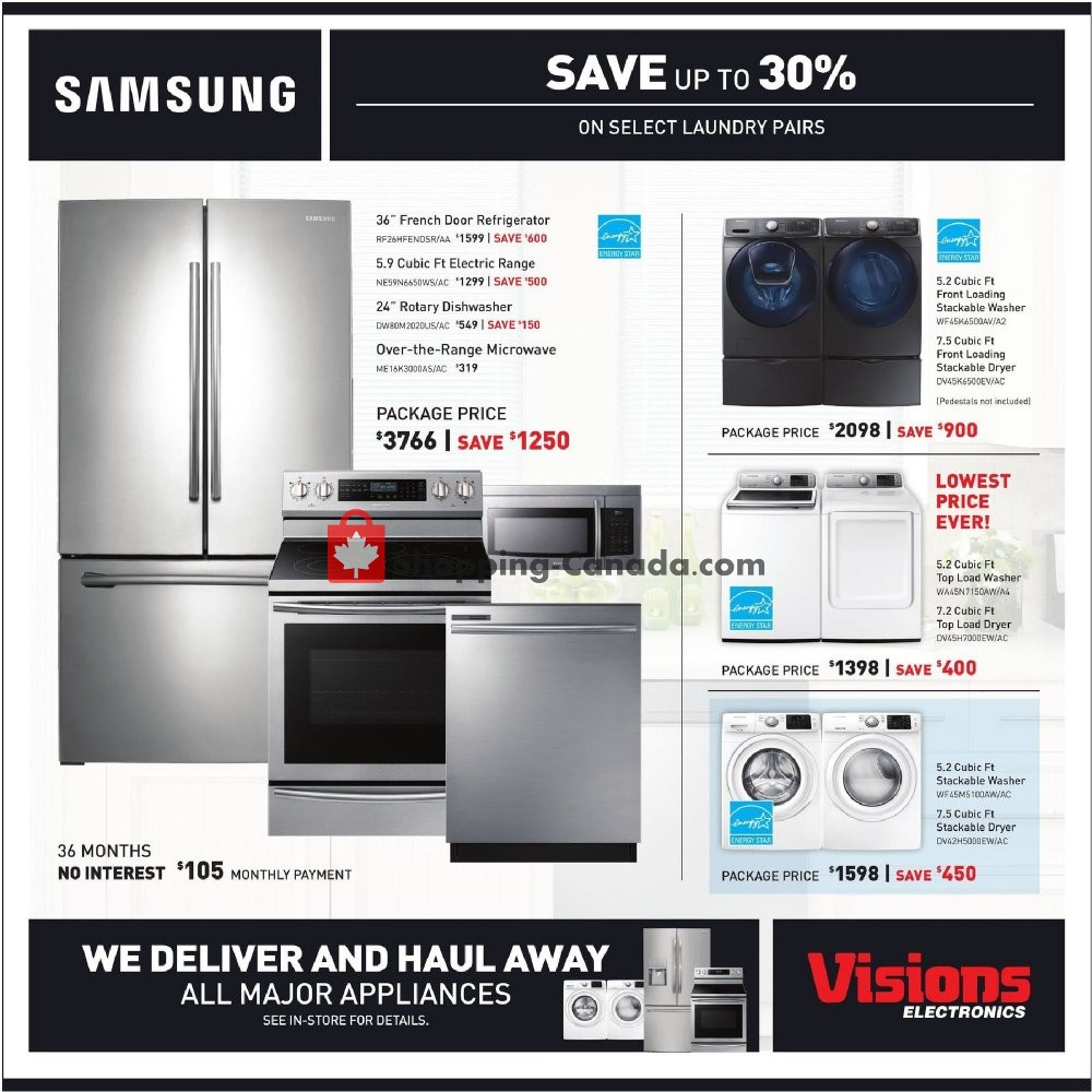 Flyer Visions Electronics Canada - from Friday November 8, 2019 to Thursday November 14, 2019