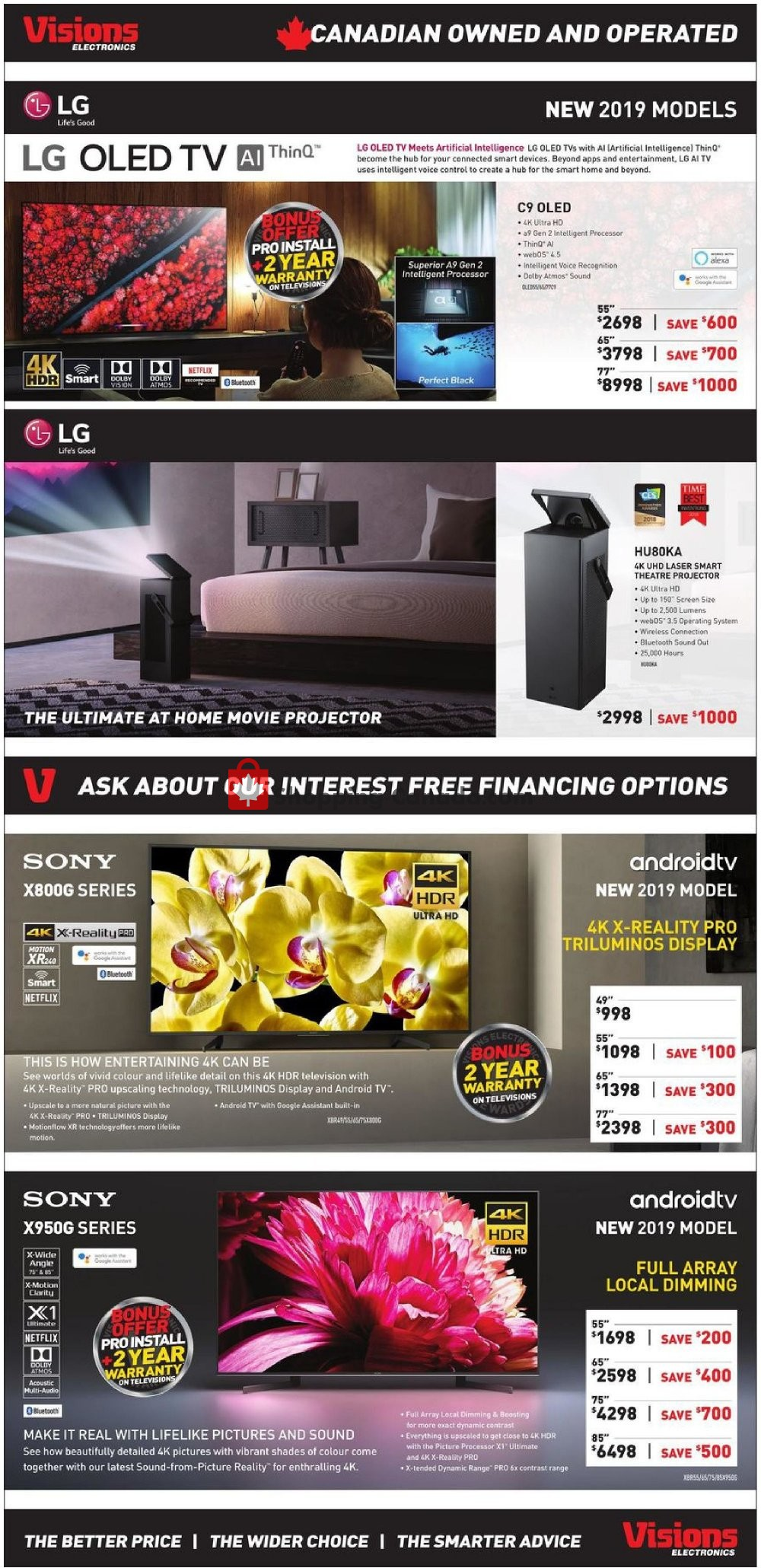 Flyer Visions Electronics Canada - from Friday July 19, 2019 to Thursday July 25, 2019