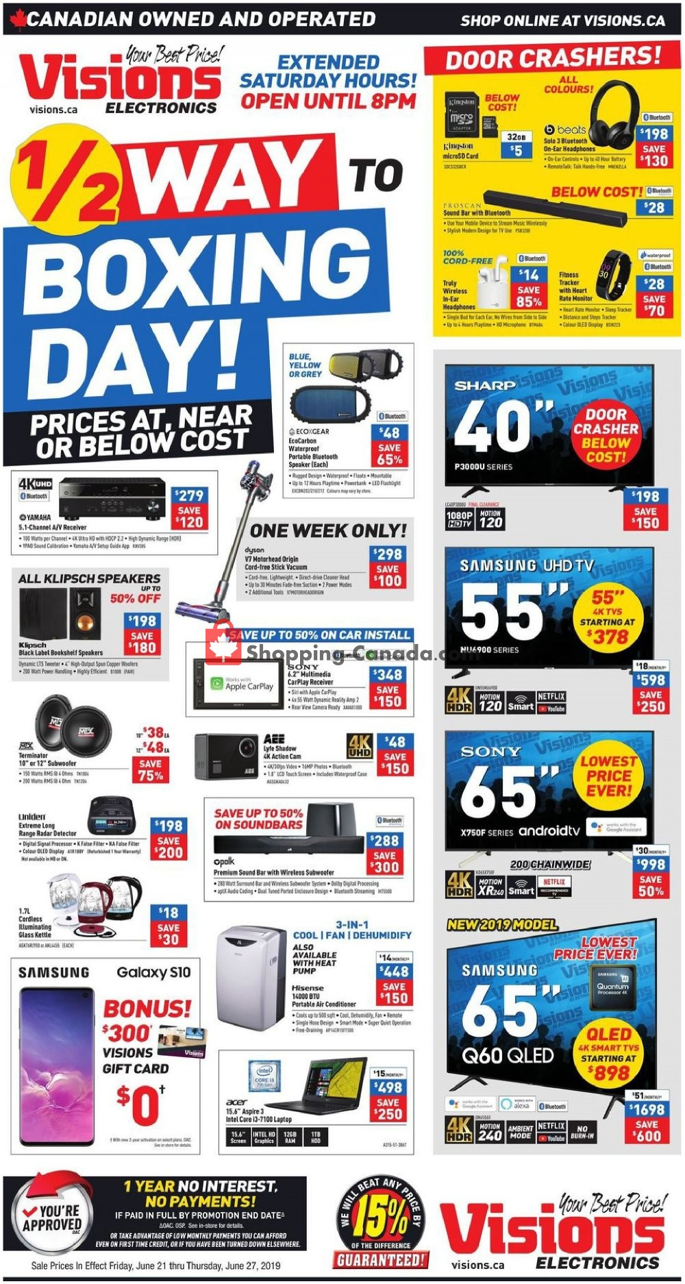 Flyer Visions Electronics Canada - from Friday June 21, 2019 to Thursday June 27, 2019
