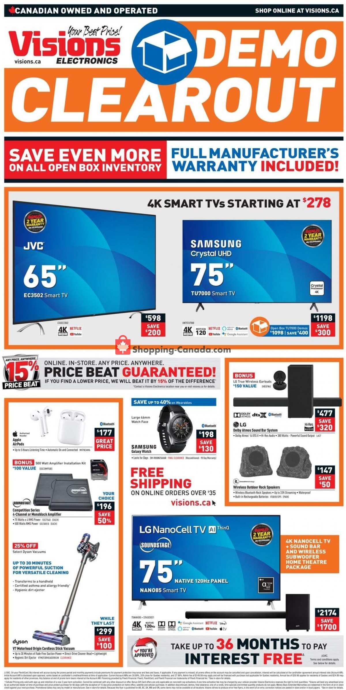 Flyer Visions Electronics Canada - from Friday April 23, 2021 to Thursday April 29, 2021