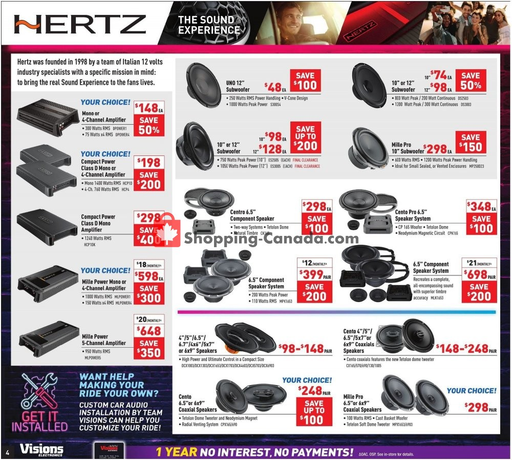 Flyer Visions Electronics Canada - from Friday August 9, 2019 to Thursday August 15, 2019