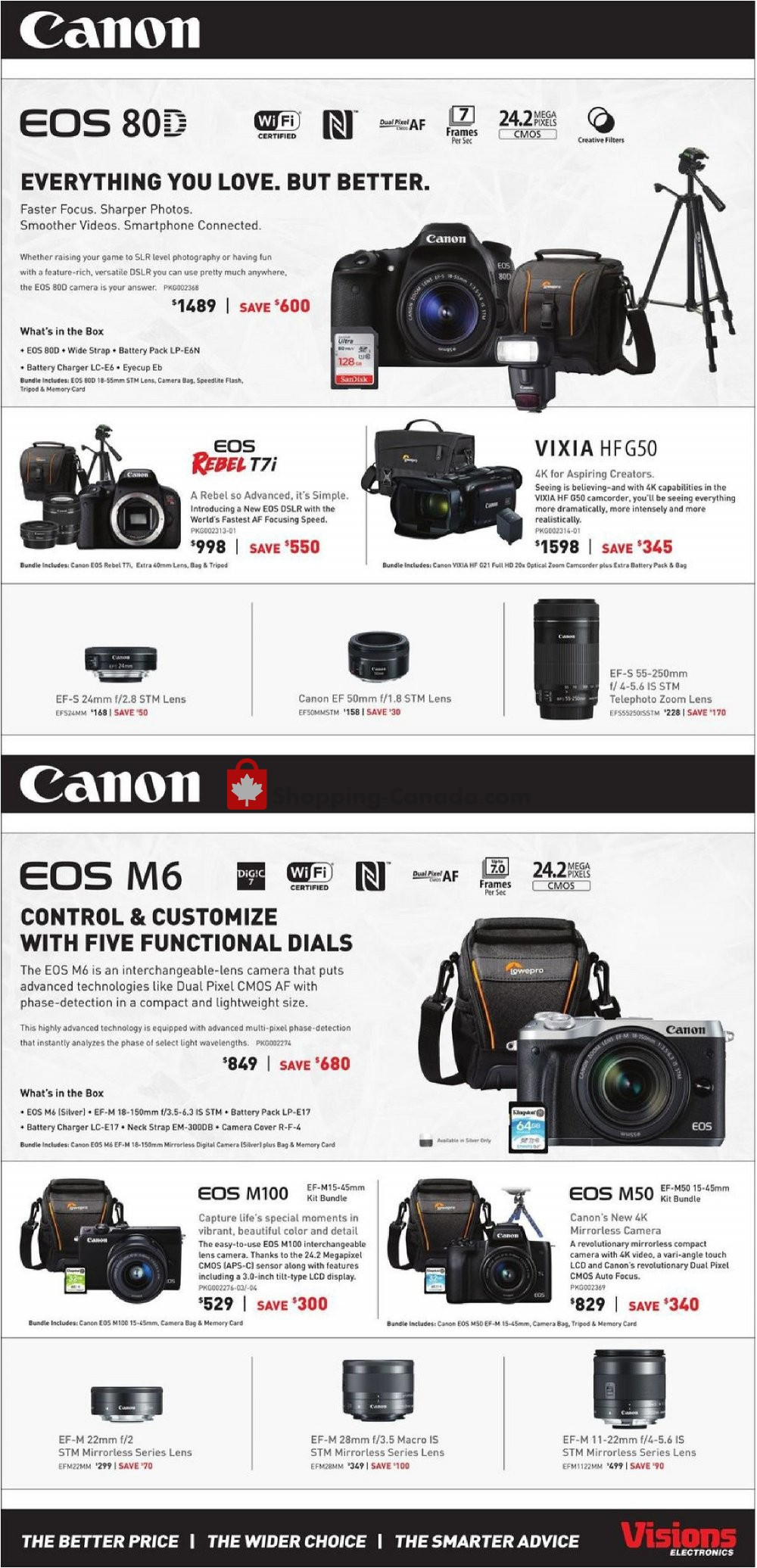 Flyer Visions Electronics Canada - from Friday September 6, 2019 to Thursday September 12, 2019
