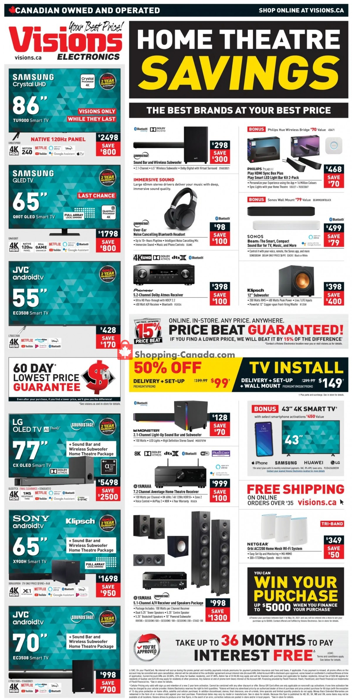 Flyer Visions Electronics Canada - from Friday April 30, 2021 to Thursday May 6, 2021