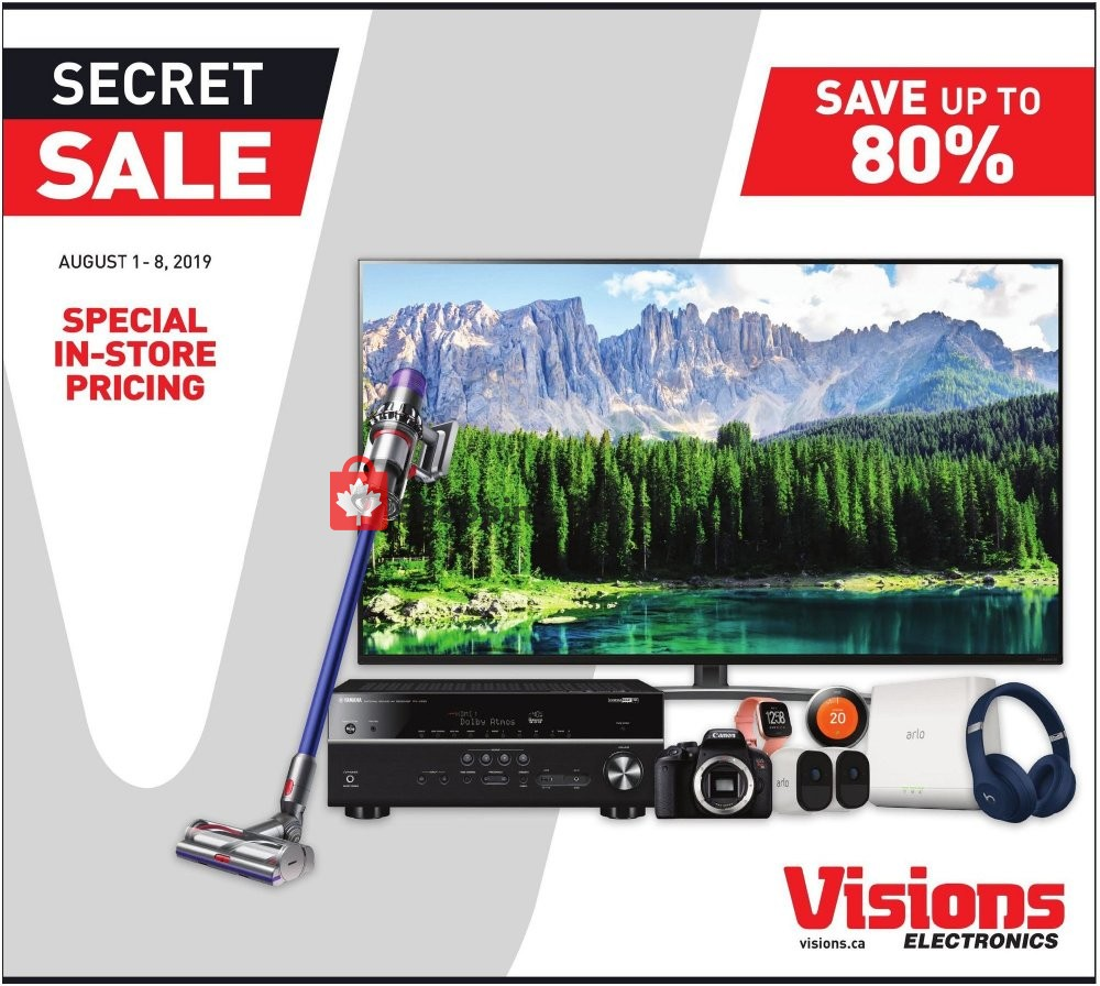 Flyer Visions Electronics Canada - from Thursday August 1, 2019 to Thursday August 8, 2019
