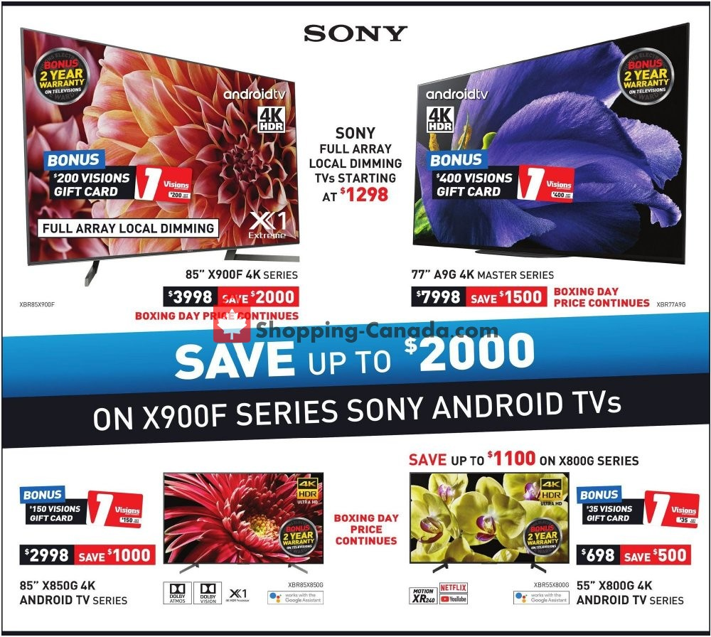 Flyer Visions Electronics Canada - from Friday January 10, 2020 to Thursday January 16, 2020