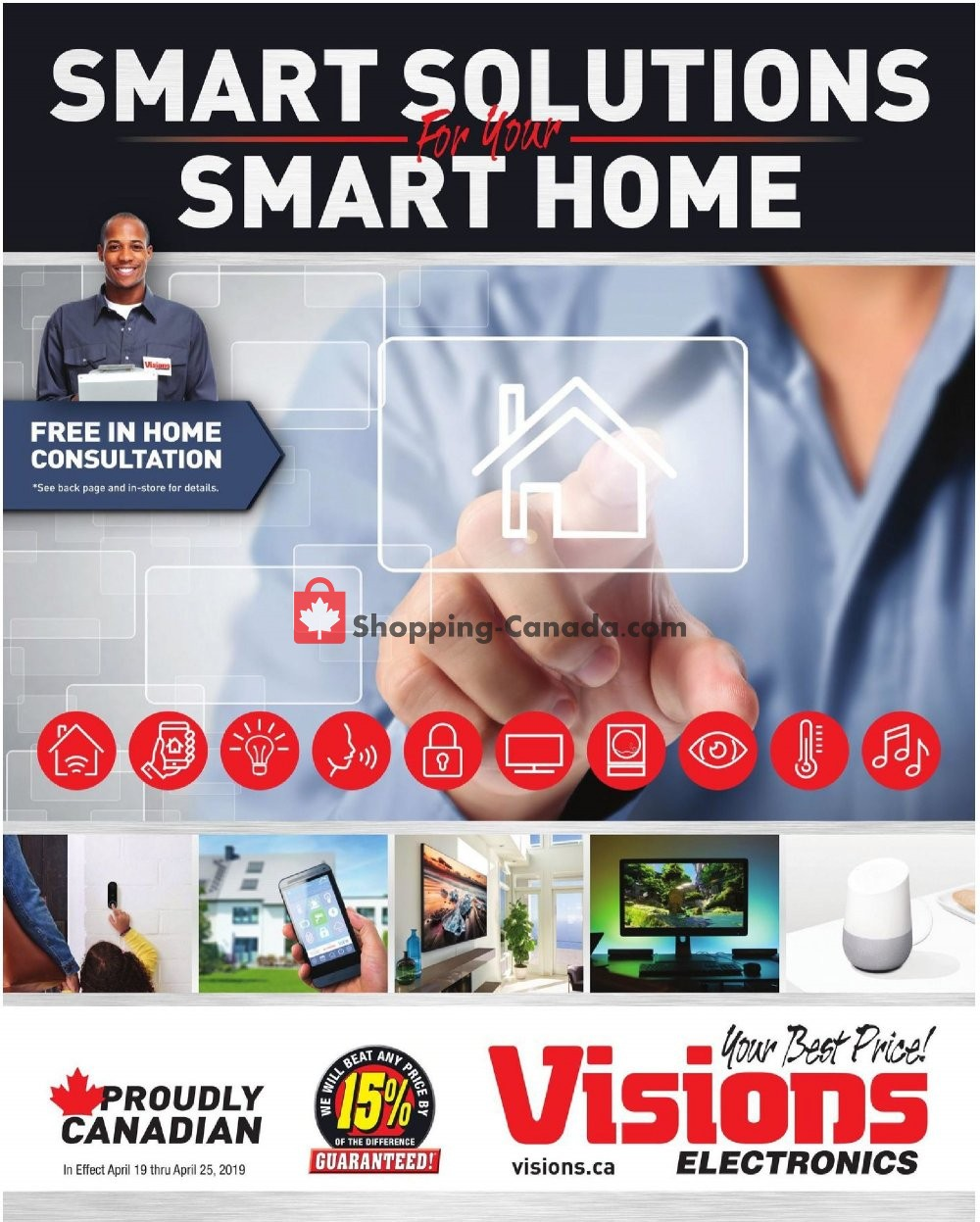 Flyer Visions Electronics Canada - from Friday April 19, 2019 to Thursday April 25, 2019