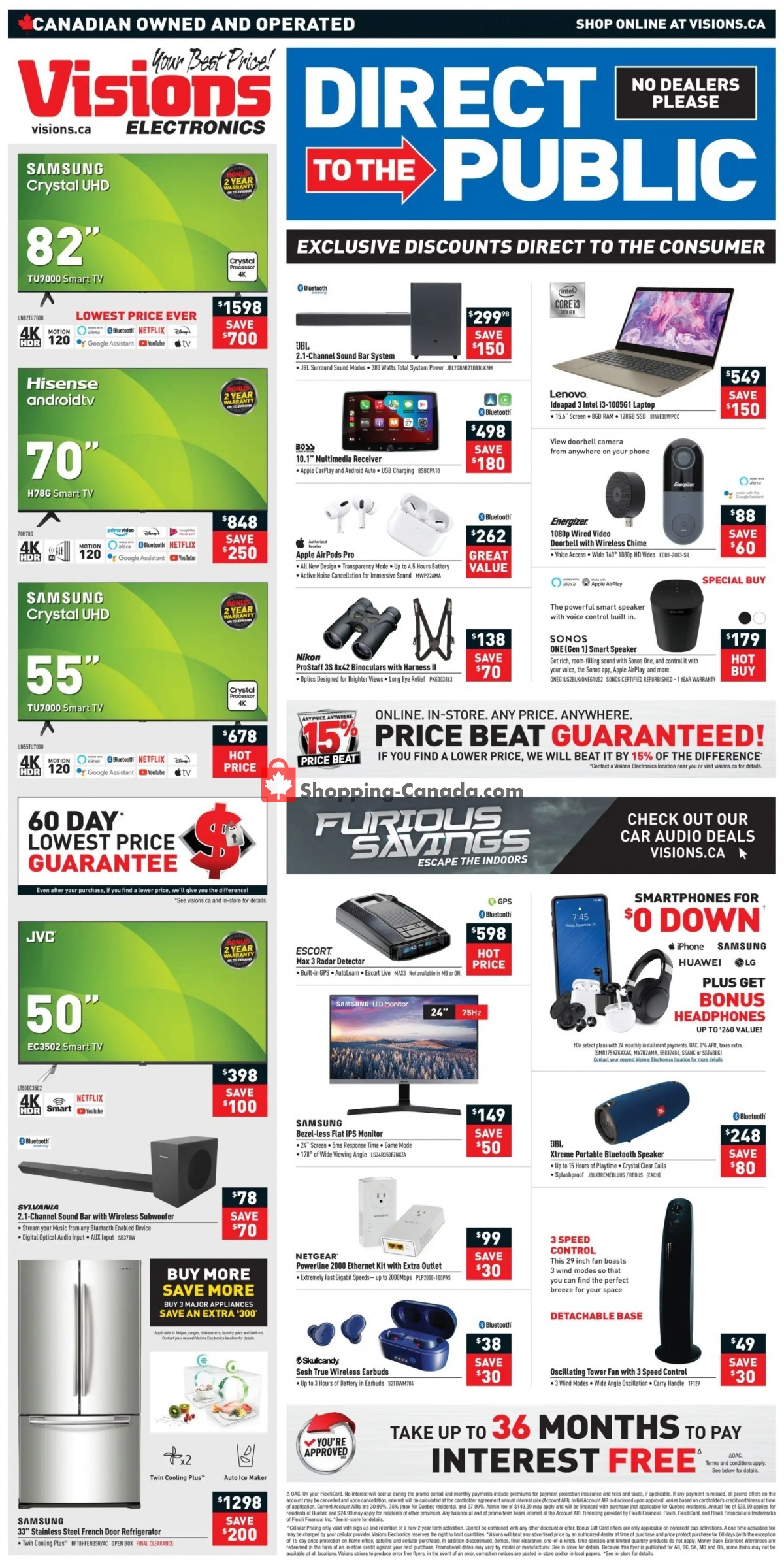 Flyer Visions Electronics Canada - from Friday June 4, 2021 to Thursday June 10, 2021