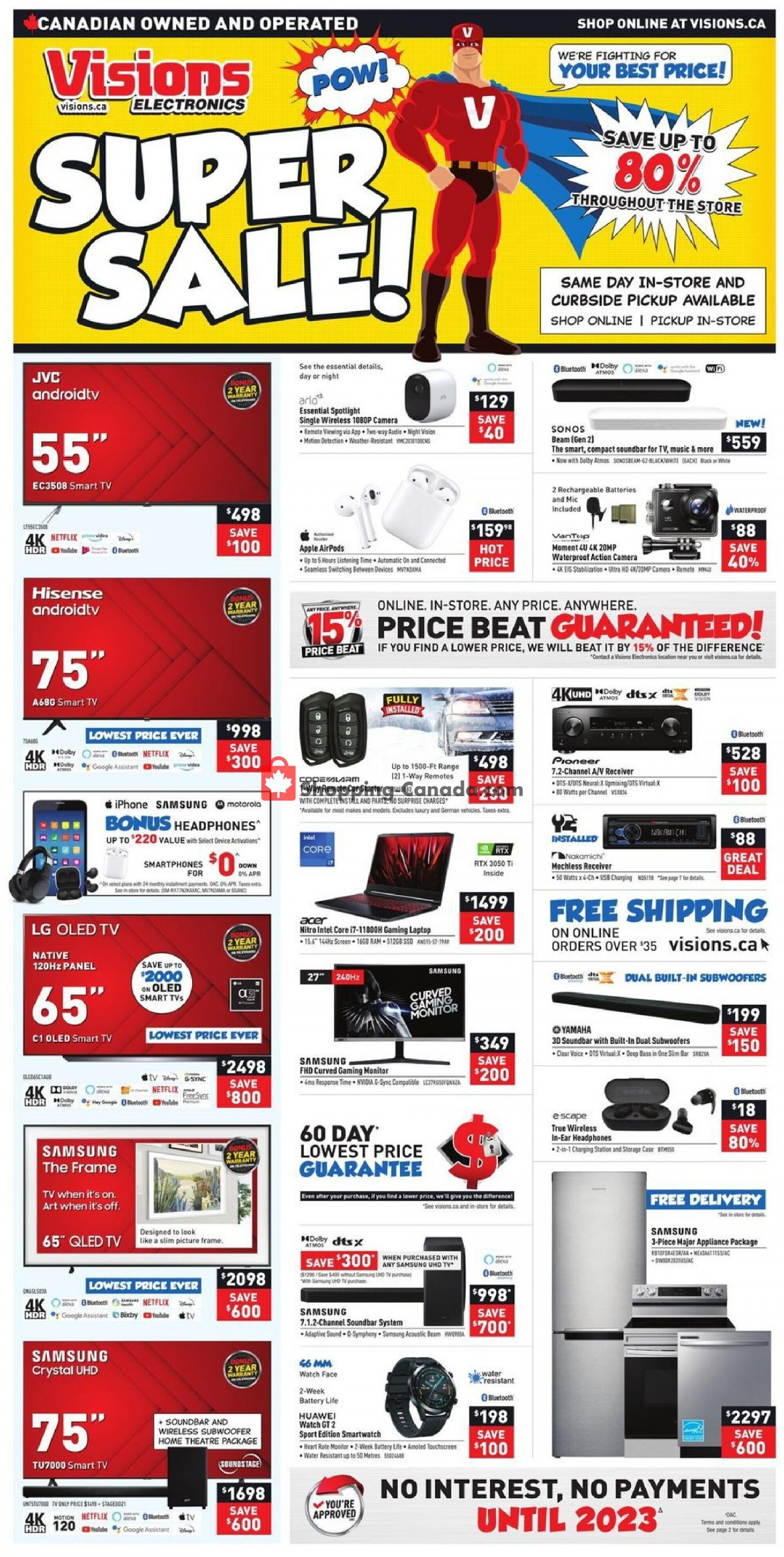 Flyer Visions Electronics Canada - from Friday October 8, 2021 to Thursday October 14, 2021