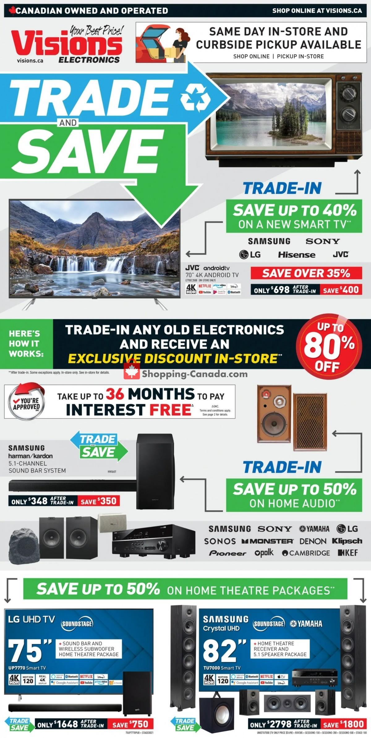 Flyer Visions Electronics Canada - from Friday July 16, 2021 to Thursday July 22, 2021