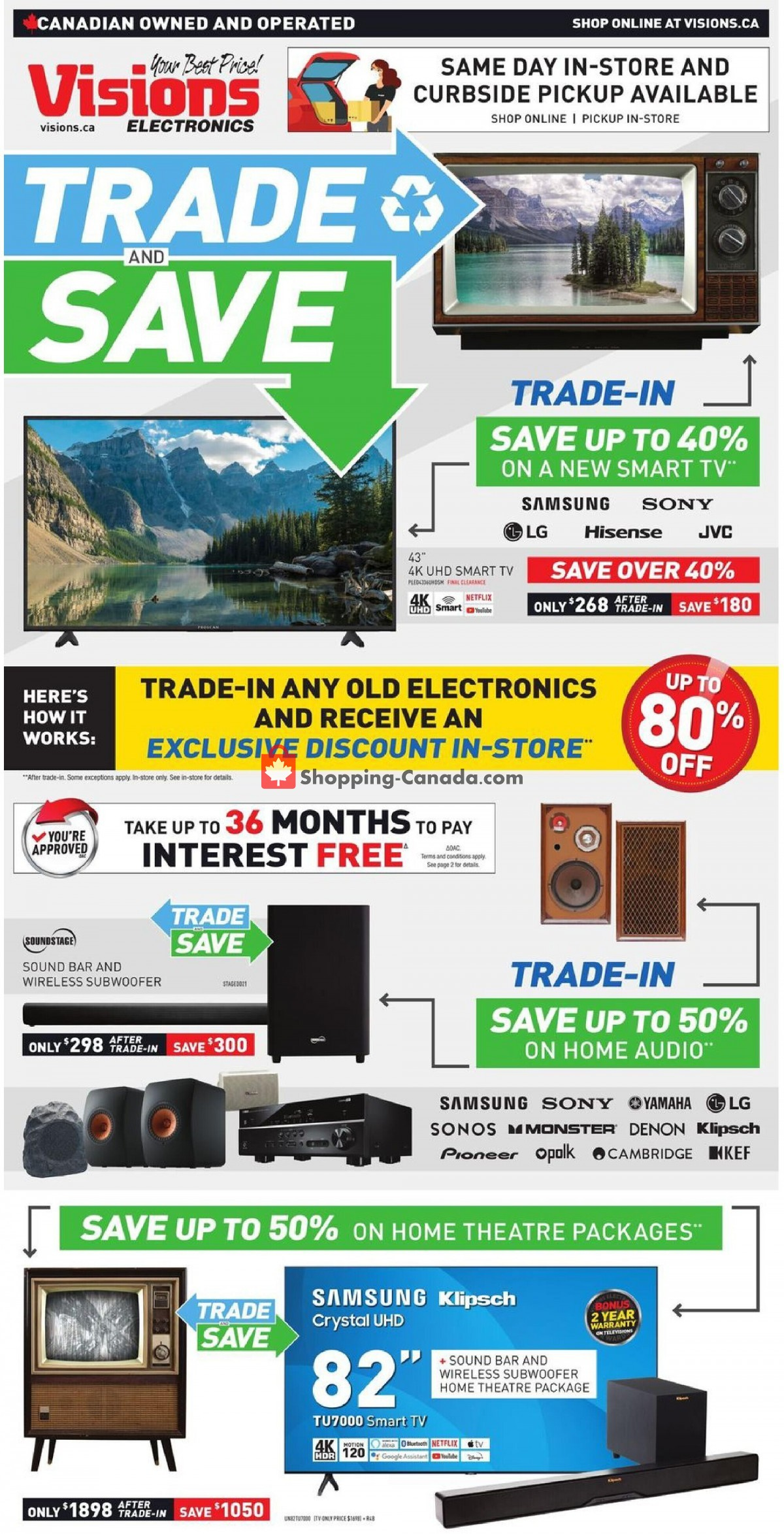 Flyer Visions Electronics Canada - from Friday July 9, 2021 to Thursday July 15, 2021