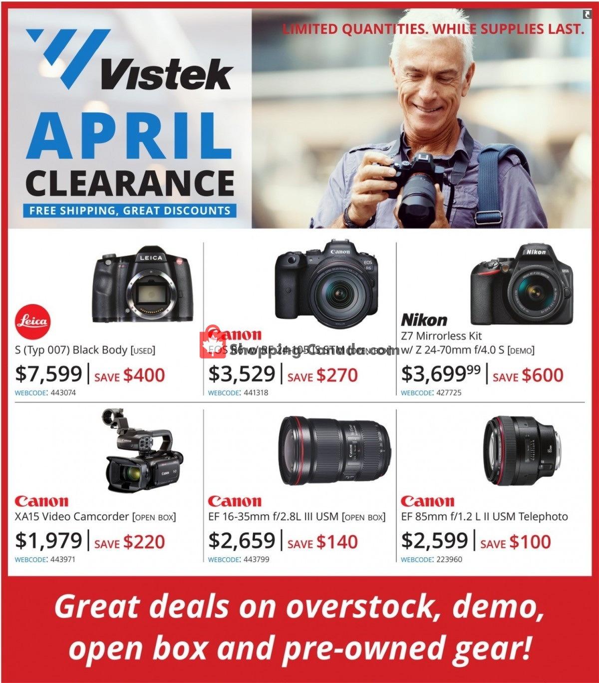 Flyer Vistek Canada - from Friday April 2, 2021 to Friday April 30, 2021