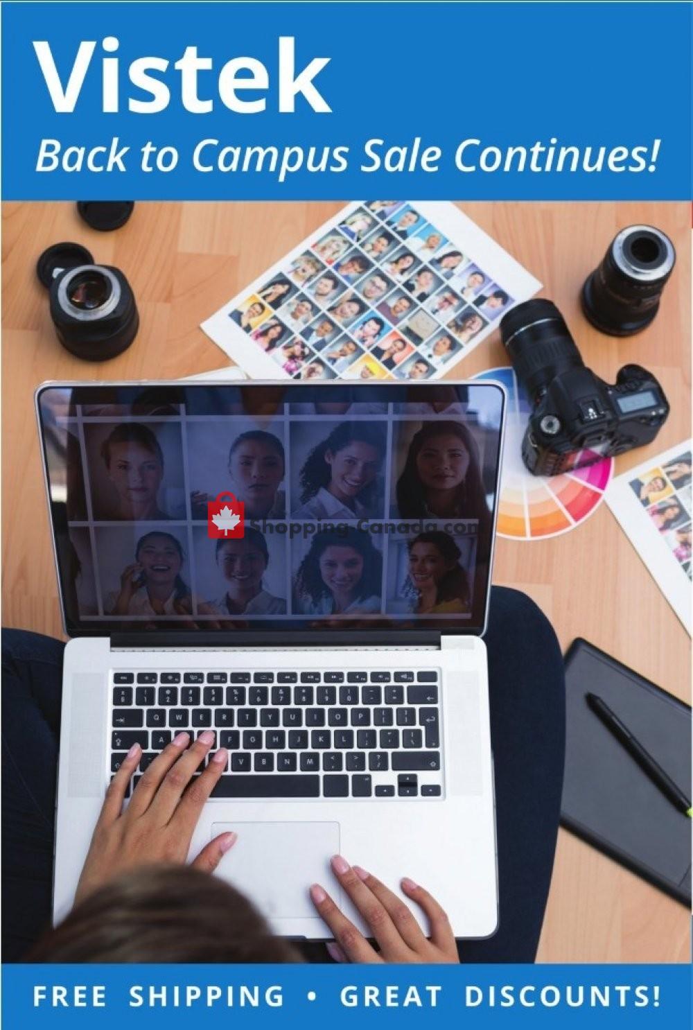 Flyer Vistek Canada - from Sunday September 1, 2019 to Monday September 30, 2019