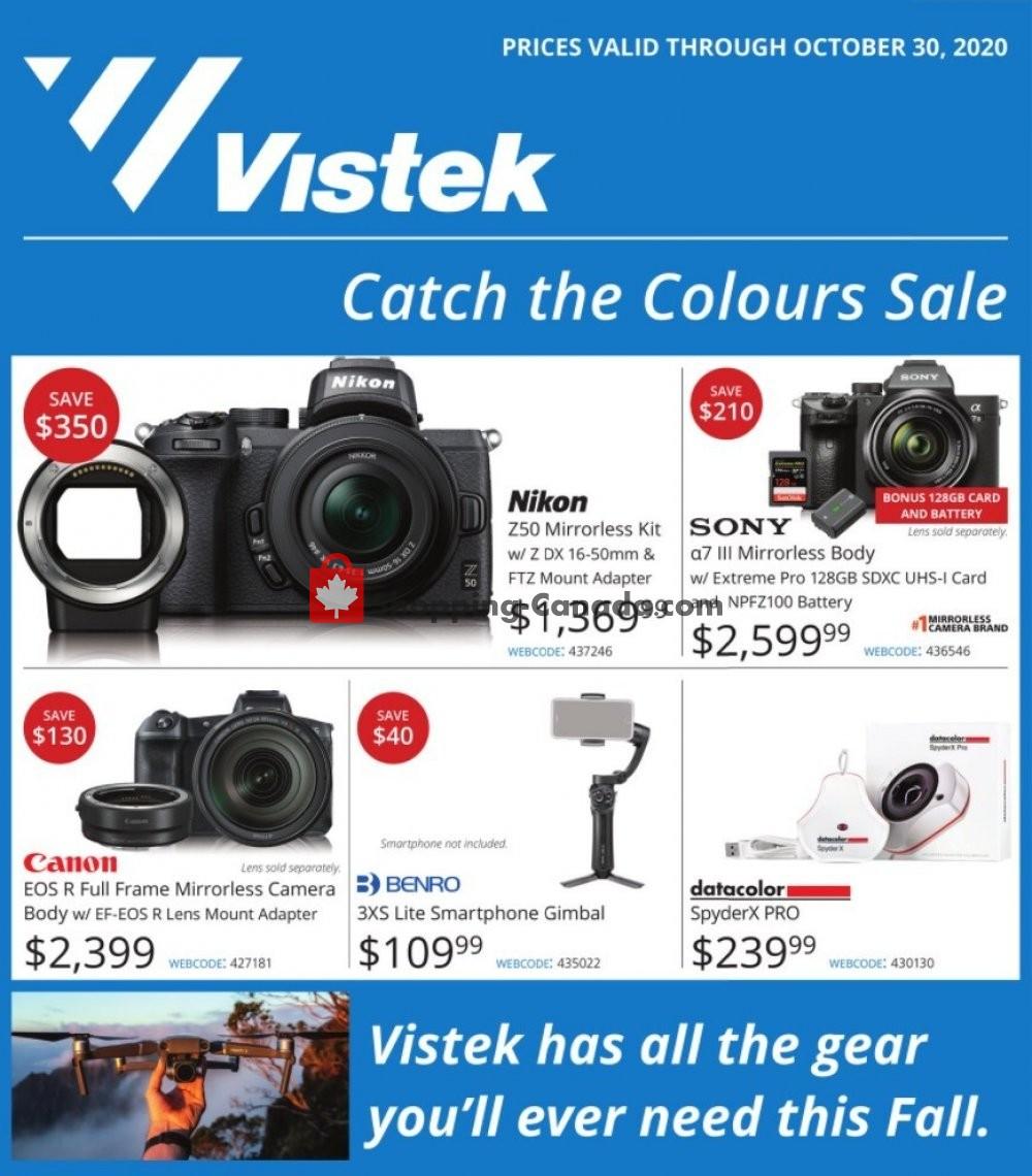 Flyer Vistek Canada - from Thursday October 8, 2020 to Friday October 30, 2020