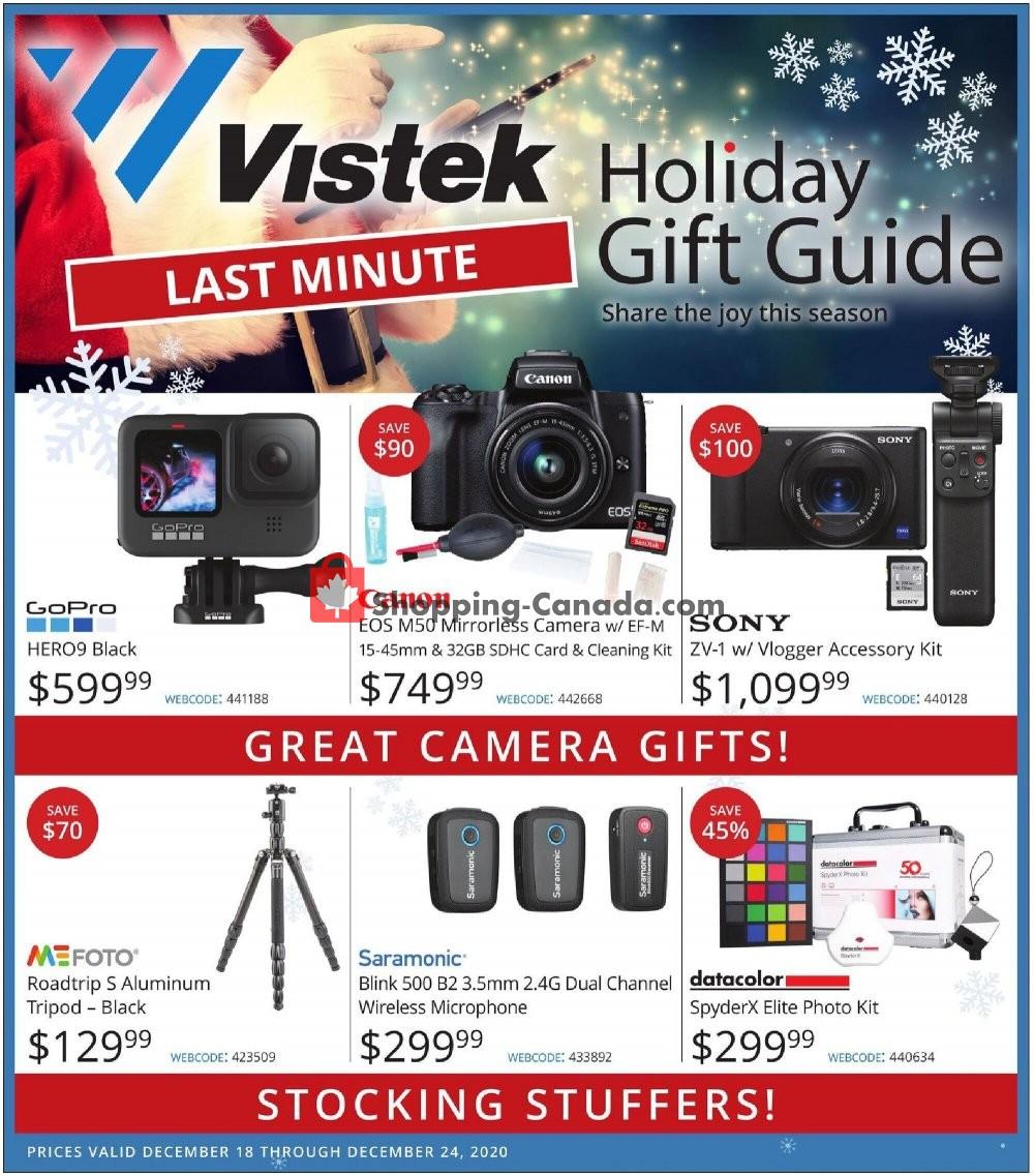 Flyer Vistek Canada - from Friday December 18, 2020 to Thursday December 24, 2020