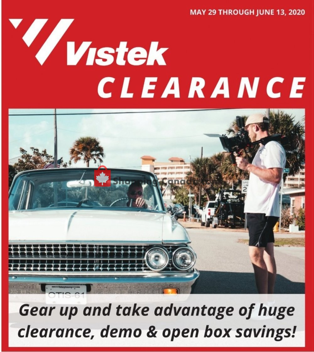 Flyer Vistek Canada - from Friday May 29, 2020 to Saturday June 13, 2020