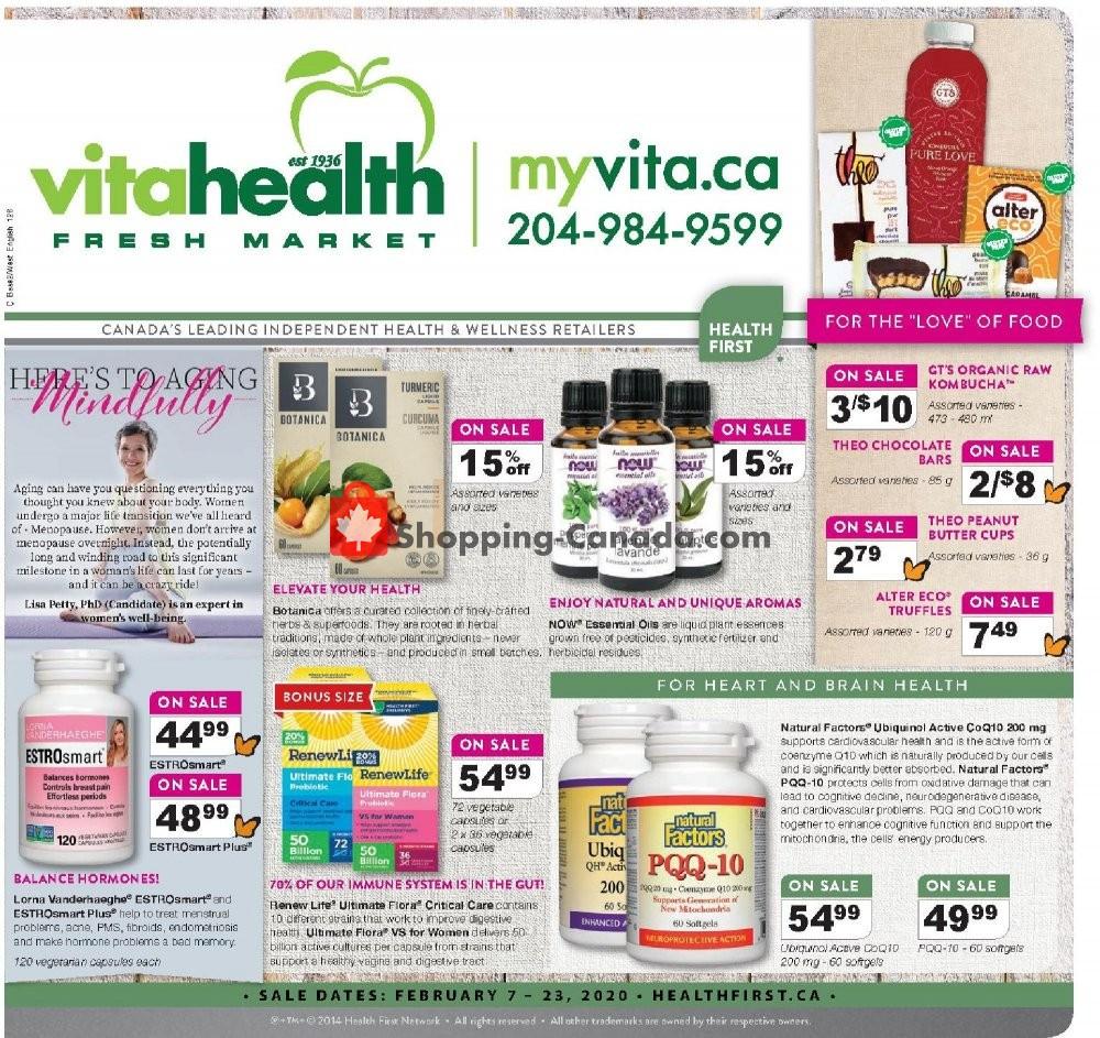 Flyer Vita Health Fresh Market Canada - from Friday February 7, 2020 to Sunday February 23, 2020