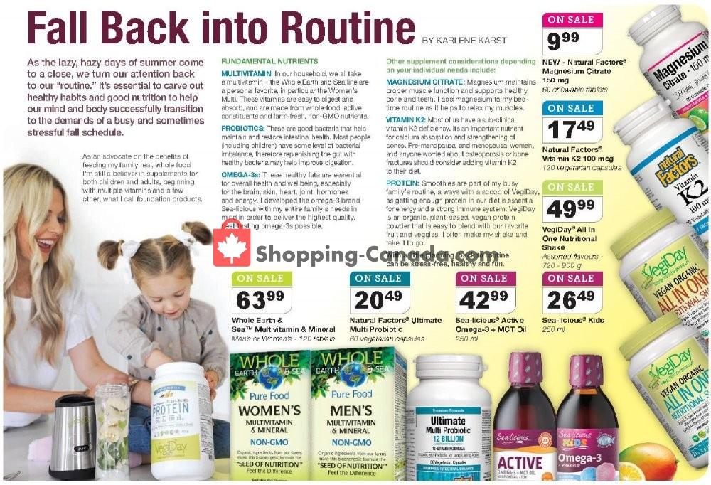 Flyer Vita Health Fresh Market Canada - from Friday September 6, 2019 to Sunday September 22, 2019