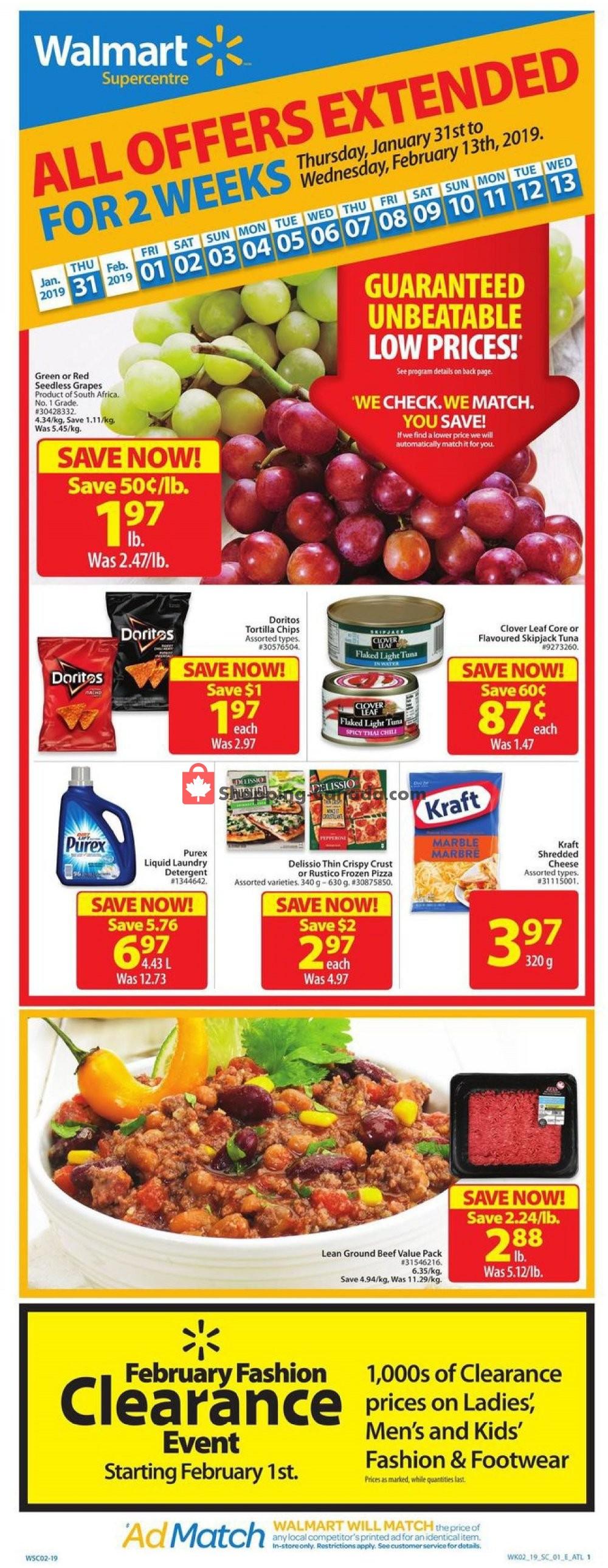 Flyer Walmart Canada - from Thursday January 31, 2019 to Wednesday February 13, 2019