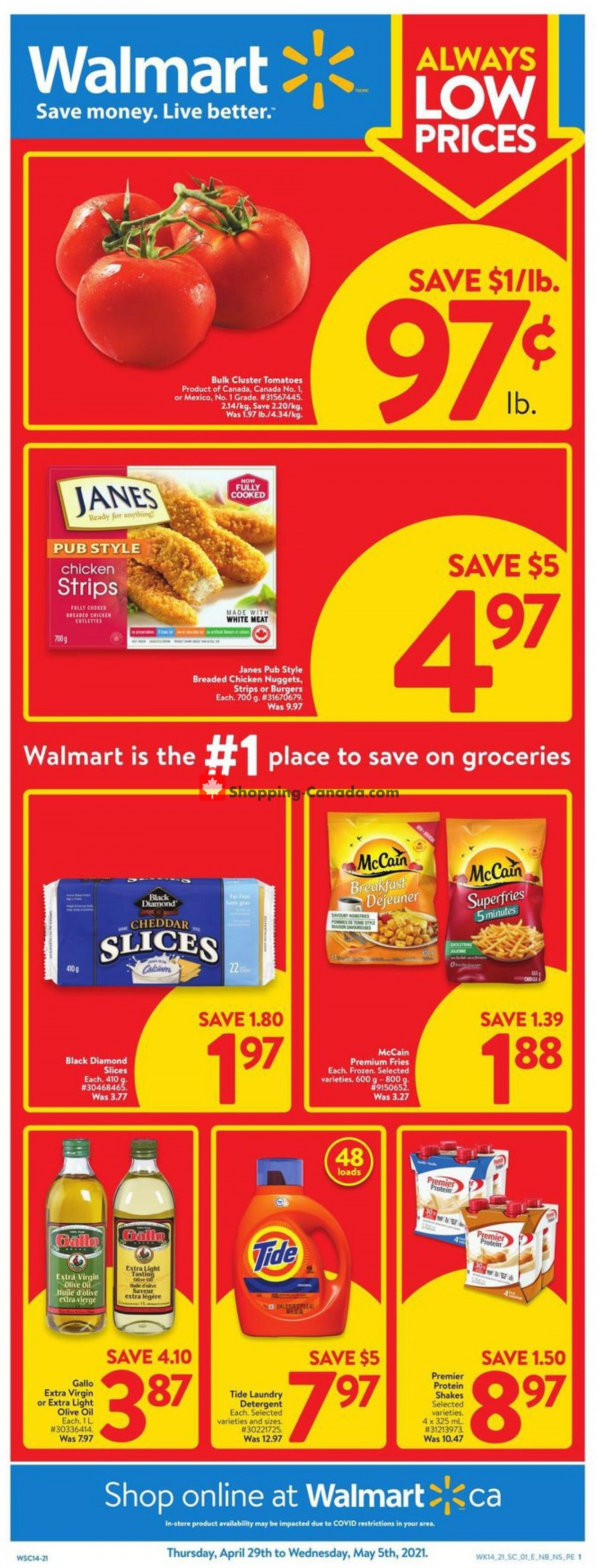 Flyer Walmart Canada - from Thursday April 29, 2021 to Wednesday May 5, 2021