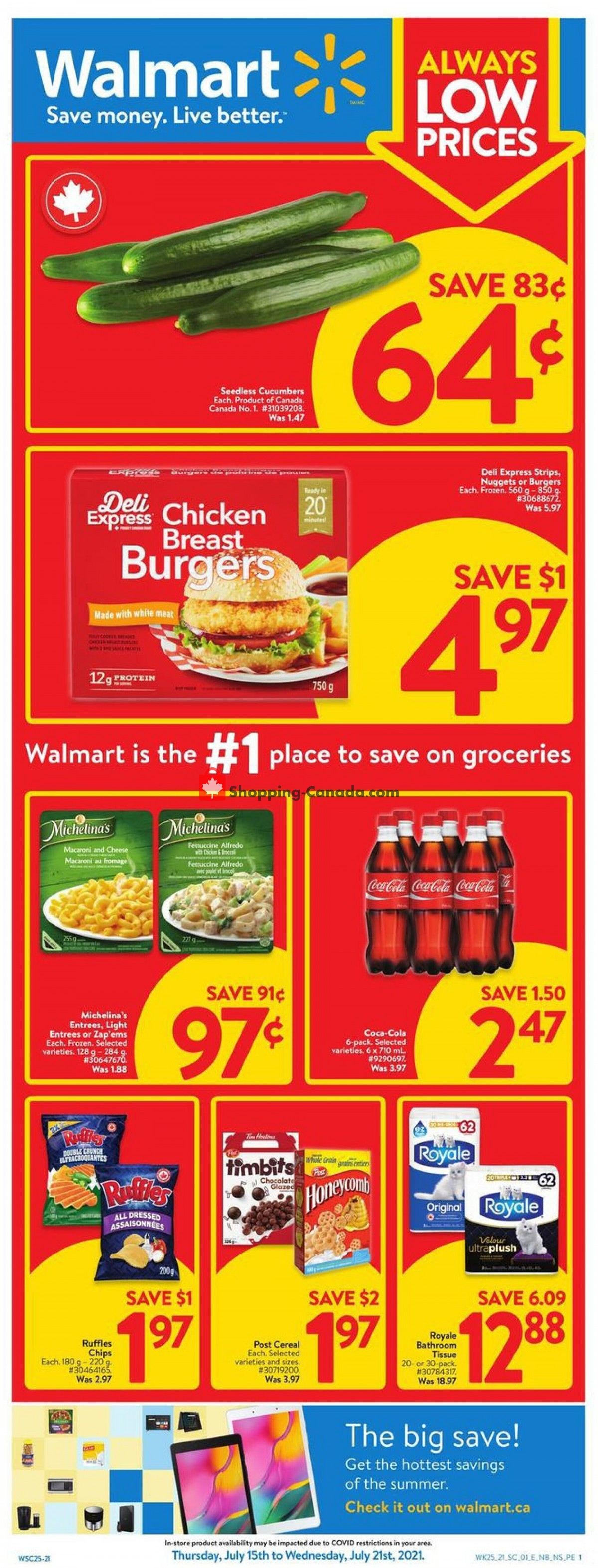 Flyer Walmart Canada - from Thursday July 15, 2021 to Wednesday July 21, 2021