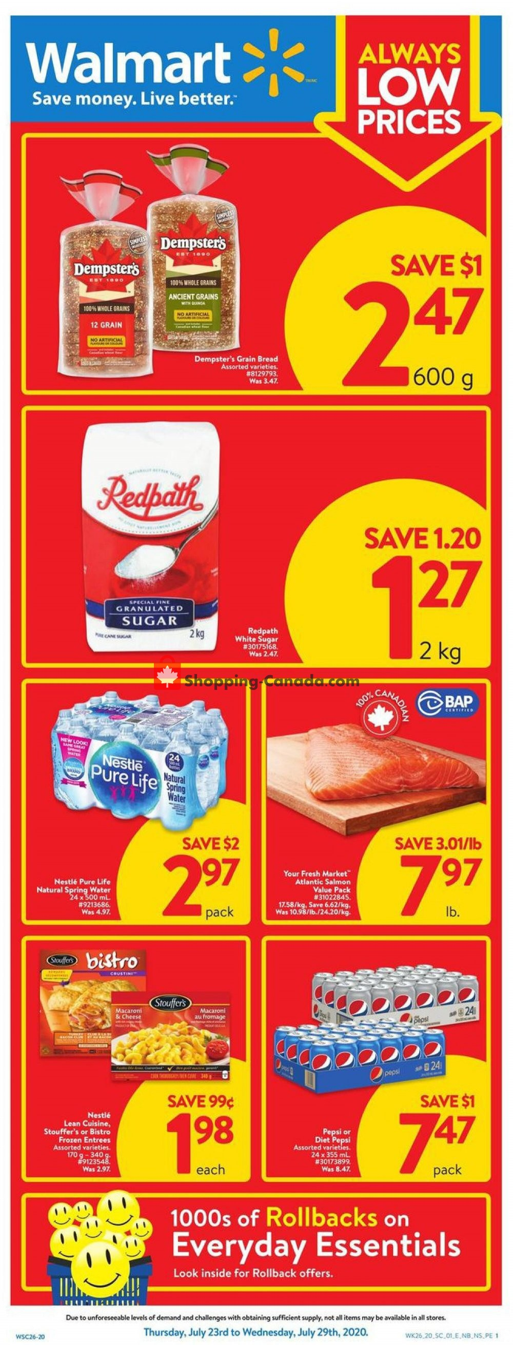 Flyer Walmart Canada - from Thursday July 23, 2020 to Wednesday July 29, 2020