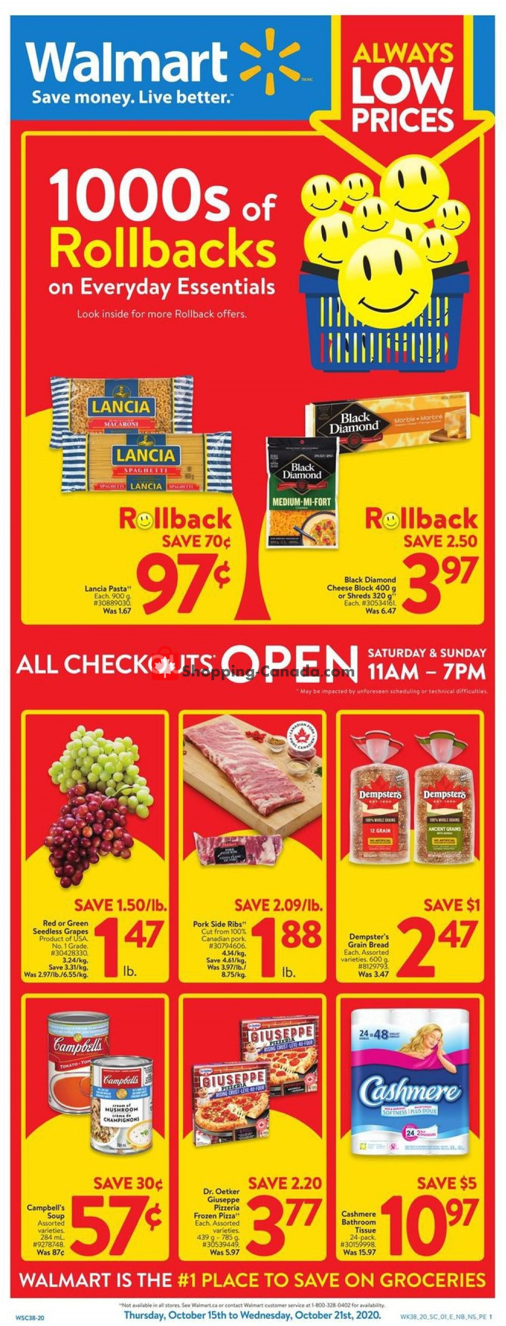 Flyer Walmart Canada - from Thursday October 15, 2020 to Wednesday October 21, 2020