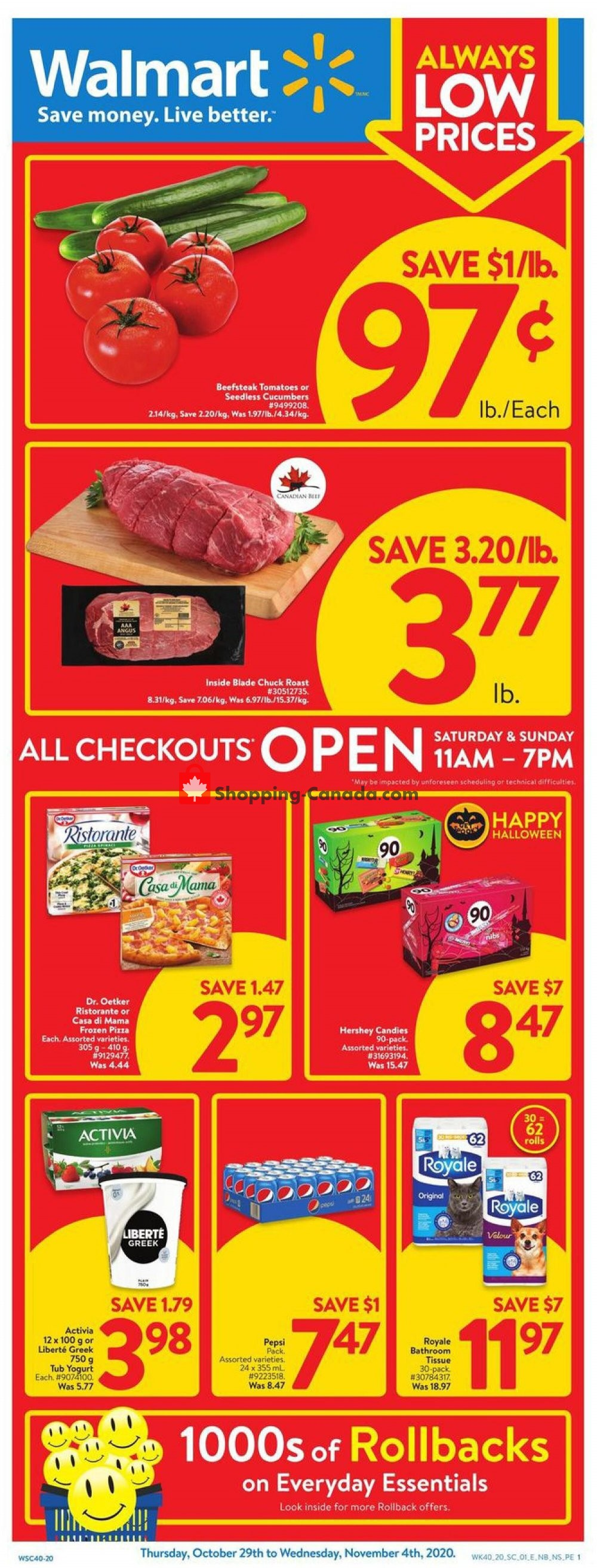 Flyer Walmart Canada - from Thursday October 29, 2020 to Wednesday November 4, 2020