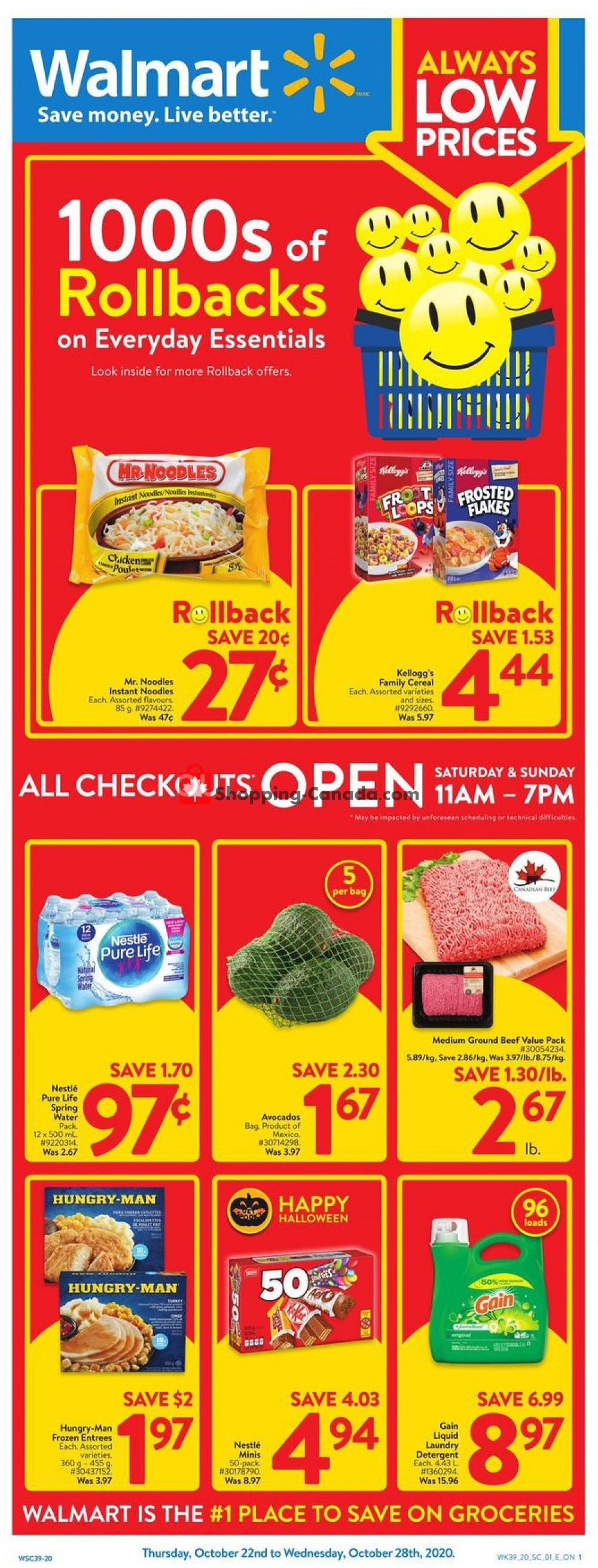 Flyer Walmart Canada - from Thursday October 22, 2020 to Wednesday October 28, 2020