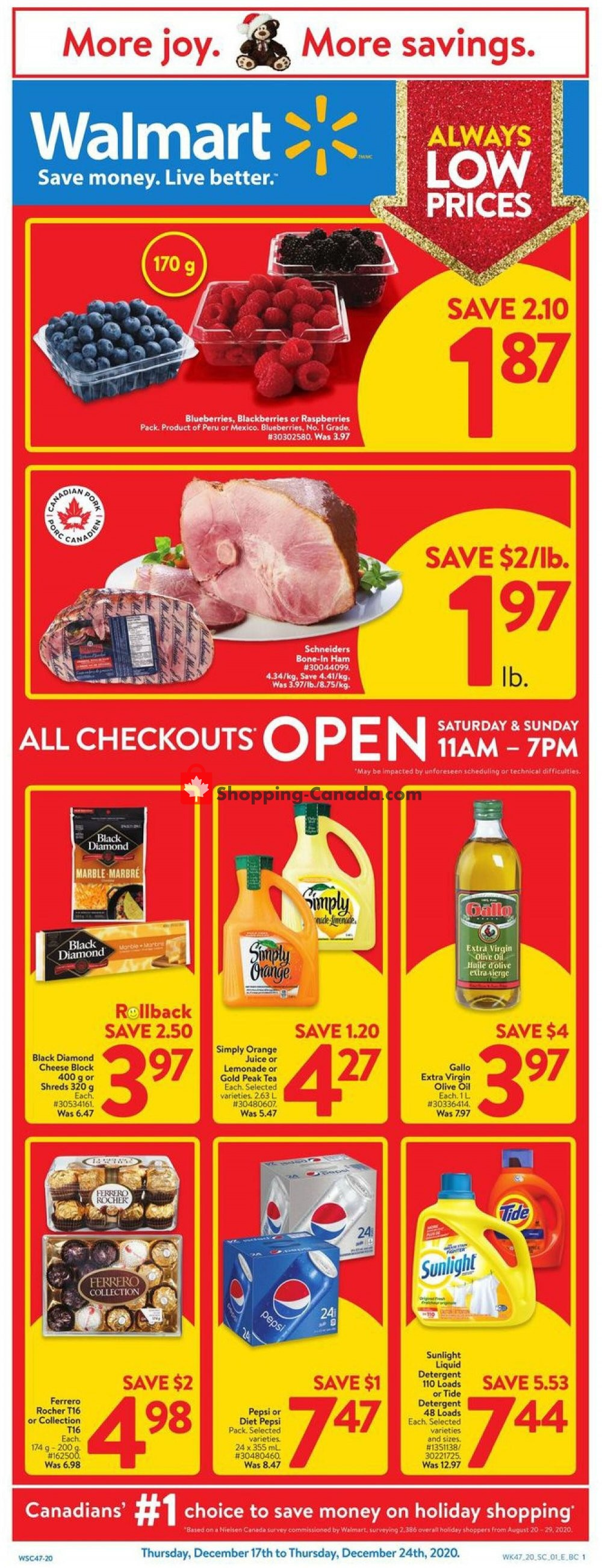 Flyer Walmart Canada - from Thursday December 17, 2020 to Thursday December 24, 2020