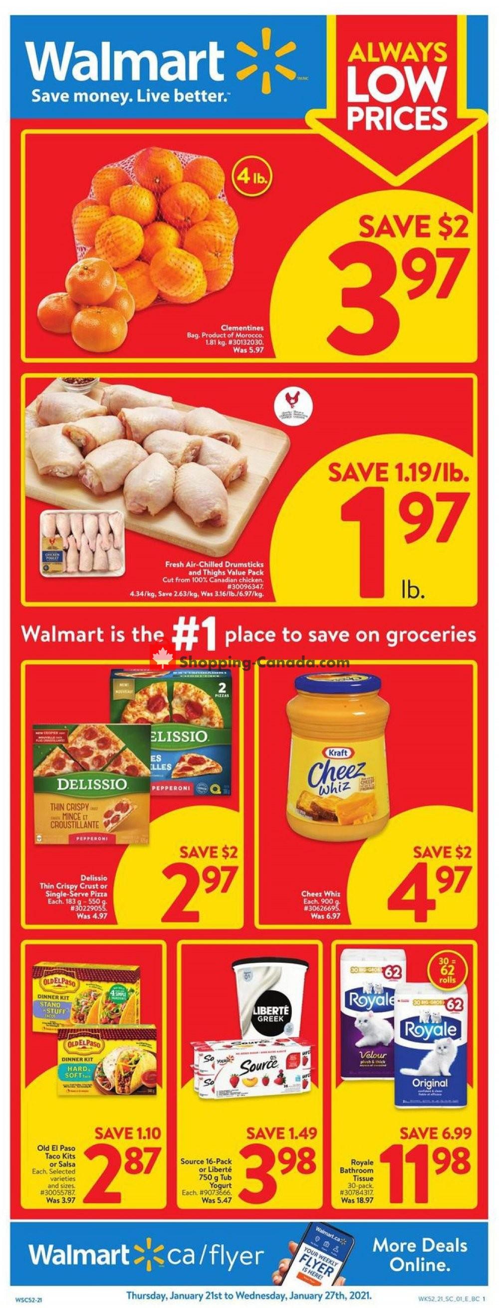 Flyer Walmart Canada - from Thursday January 21, 2021 to Wednesday January 27, 2021